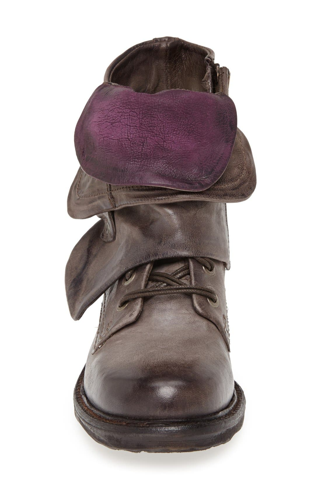 A.S. 98 'Simon' Front Cuff Leather Boot,                             Alternate thumbnail 4, color,                             060