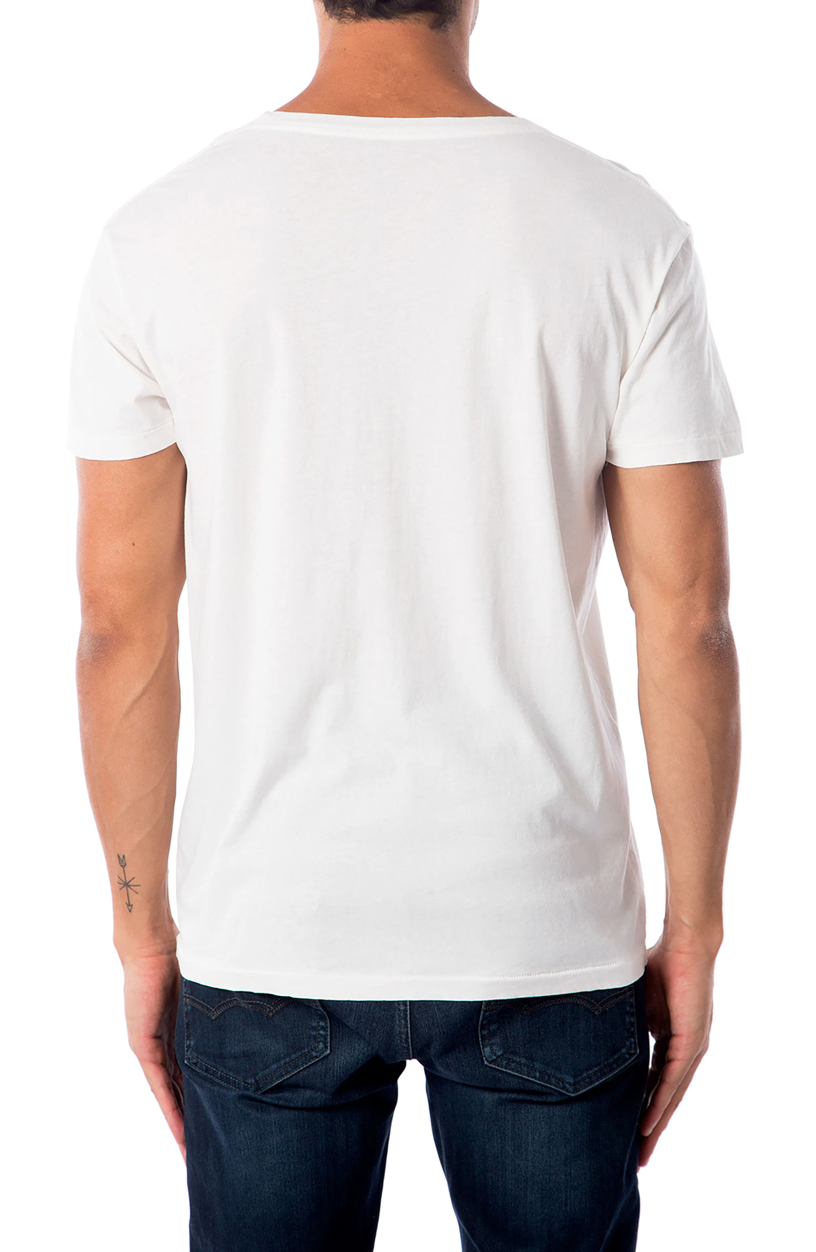 'Waves' Graphic T-Shirt,                             Alternate thumbnail 2, color,                             WHITE