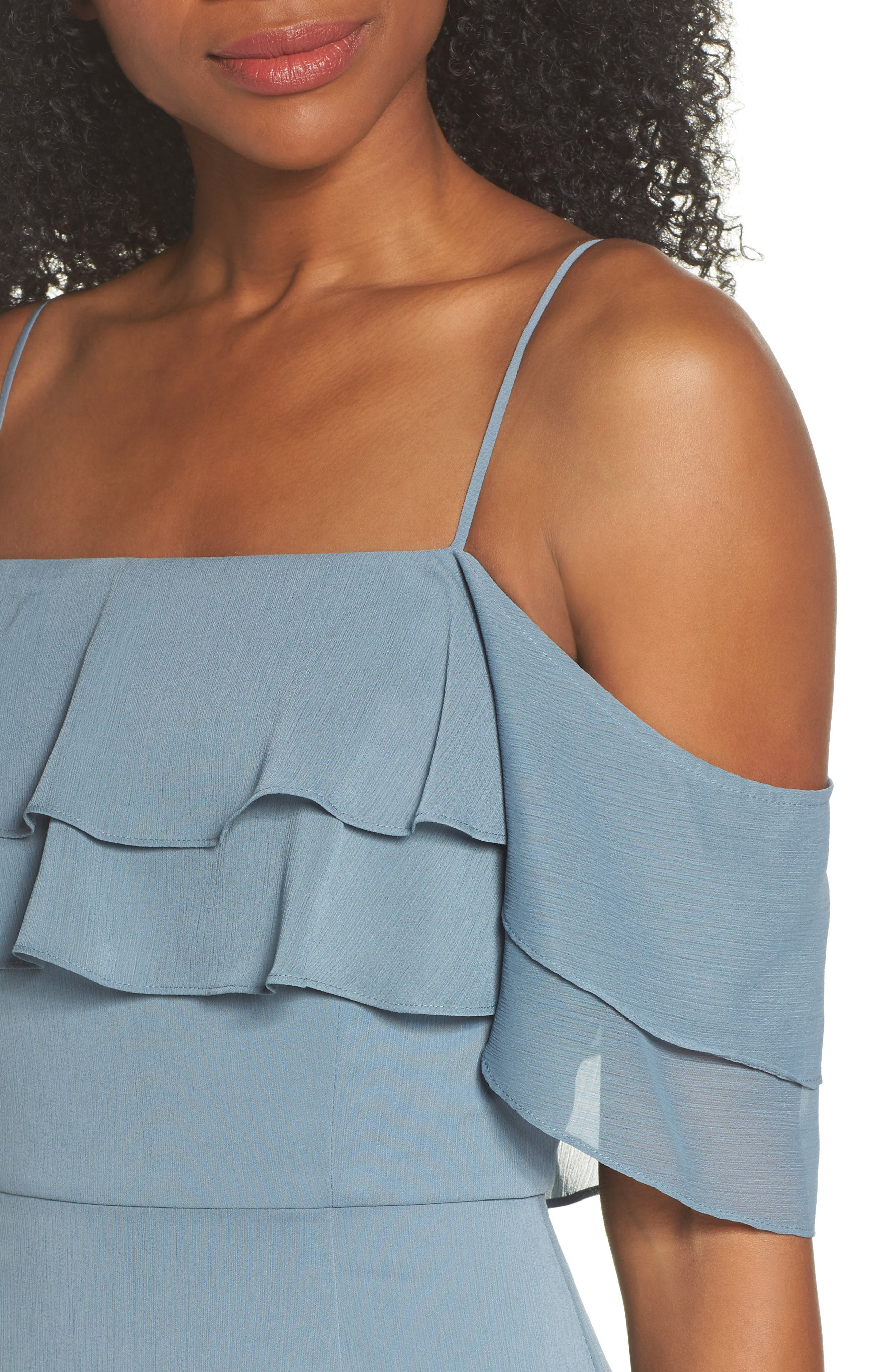 Lauren Cold Shoulder Tiered Gown,                             Alternate thumbnail 10, color,