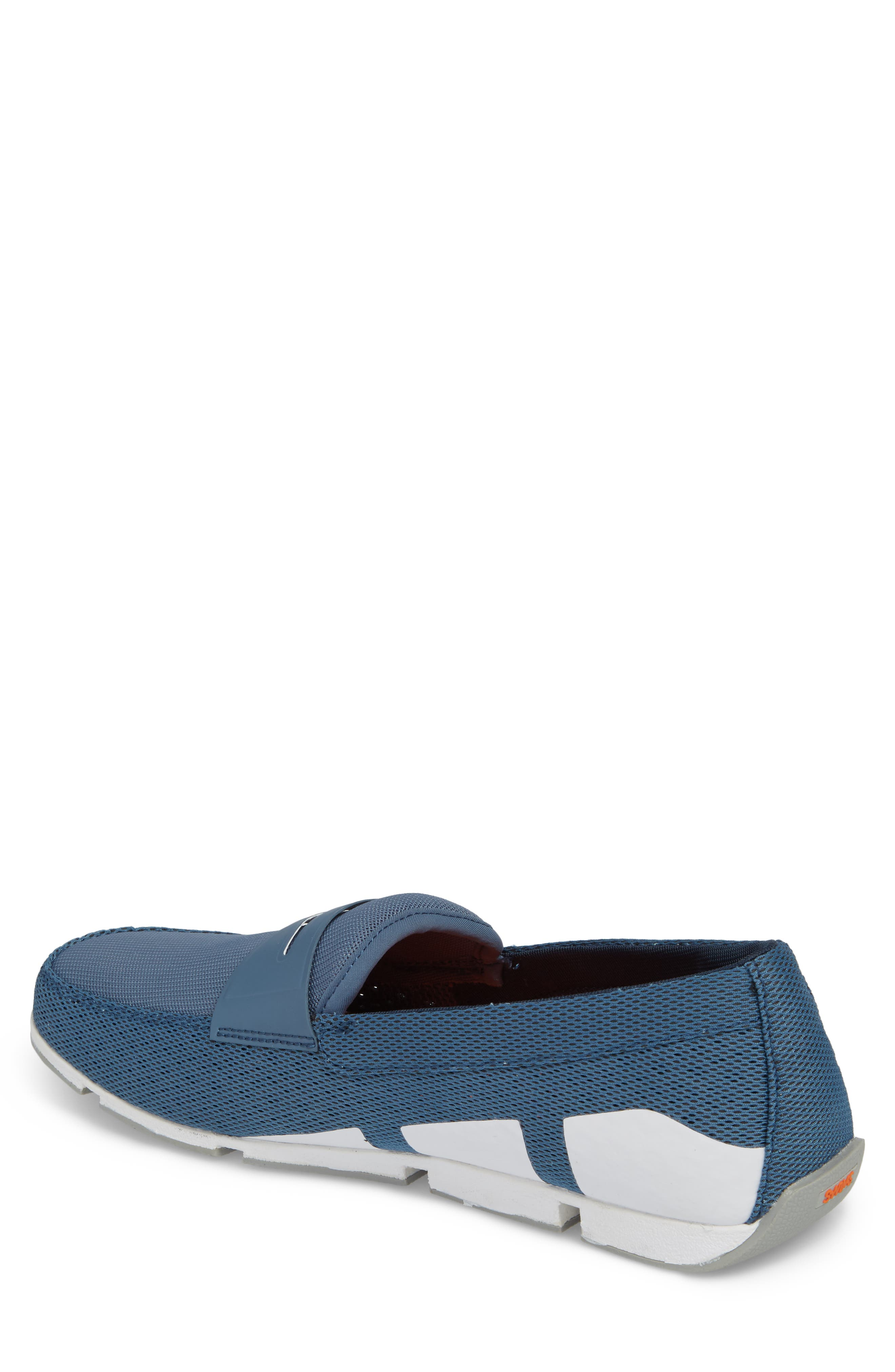 Breeze Penny Loafer,                             Alternate thumbnail 2, color,                             SLATE/ WHITE/ GREY FABRIC