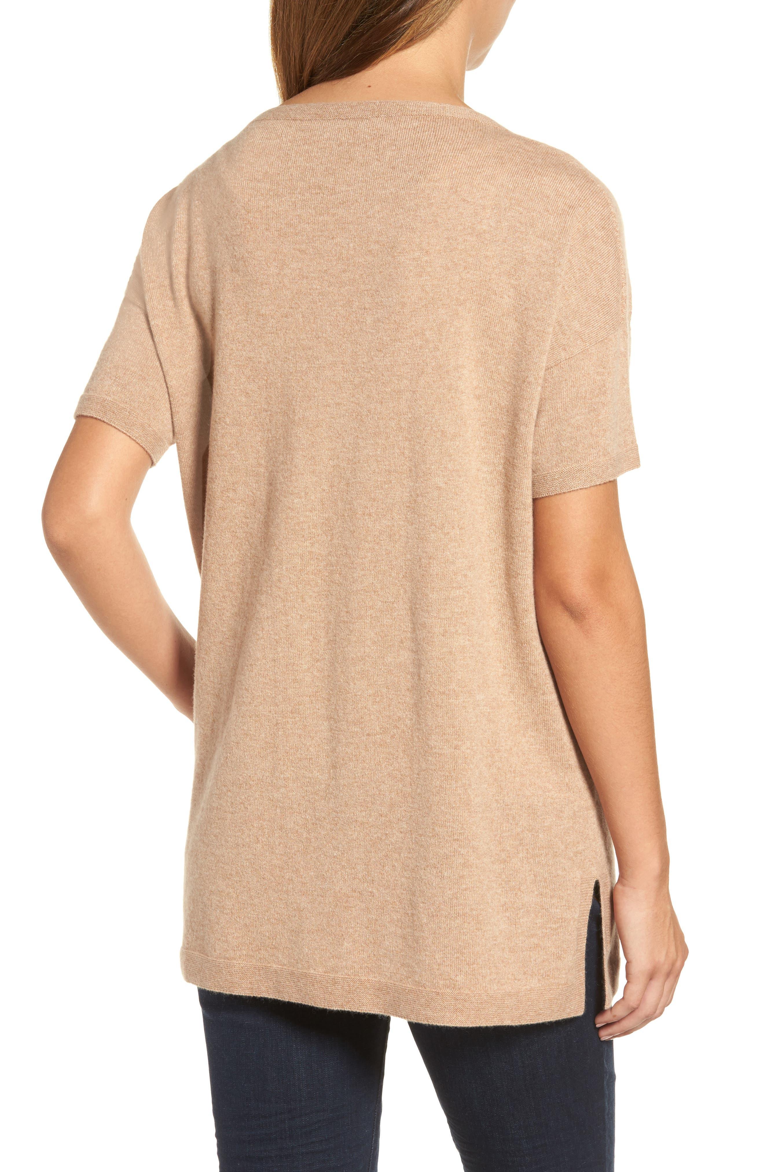Cashmere Tunic Sweater,                             Alternate thumbnail 5, color,