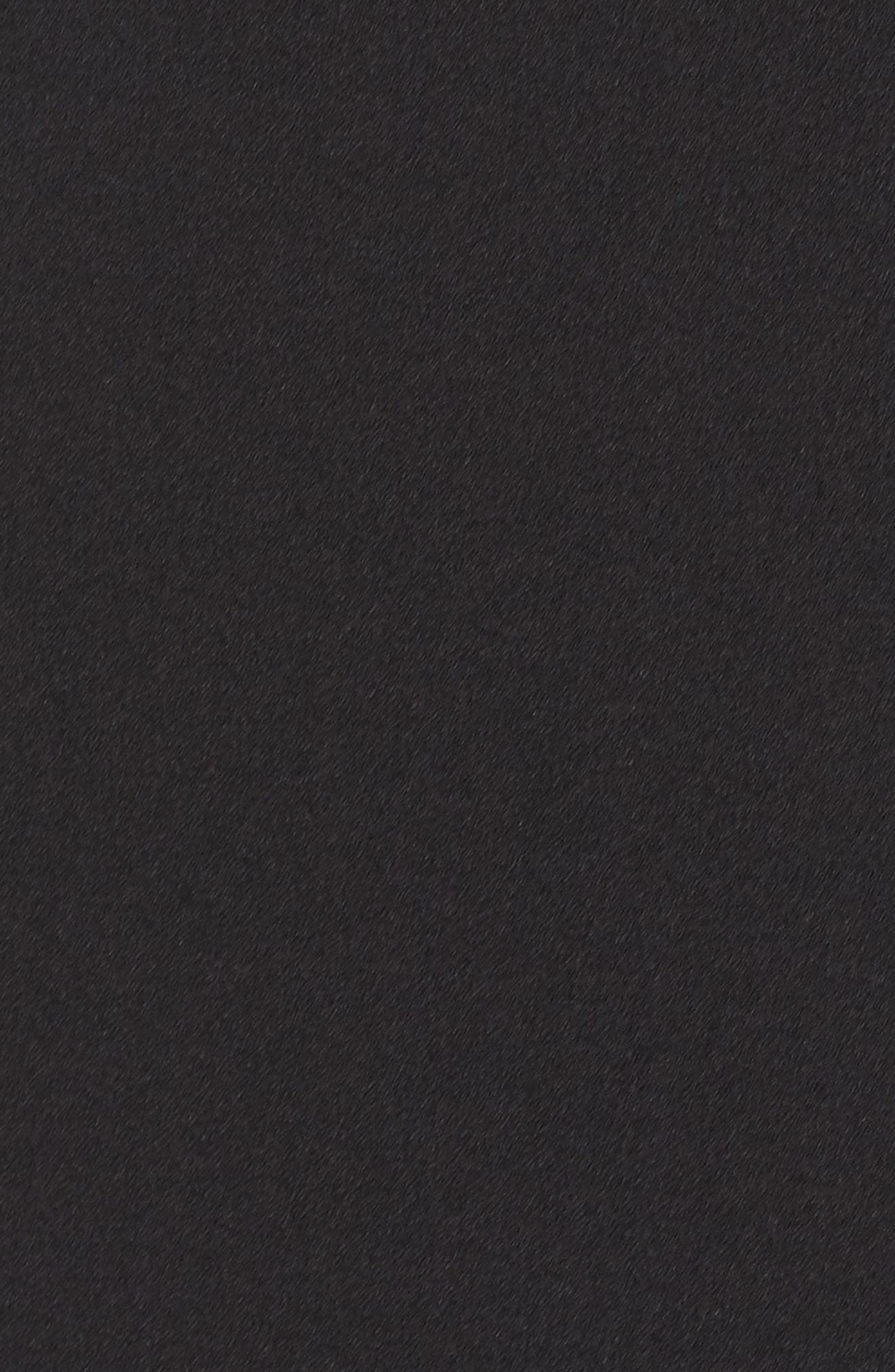 Ruffle Cold Shoulder Crepe Gown,                             Alternate thumbnail 5, color,                             001