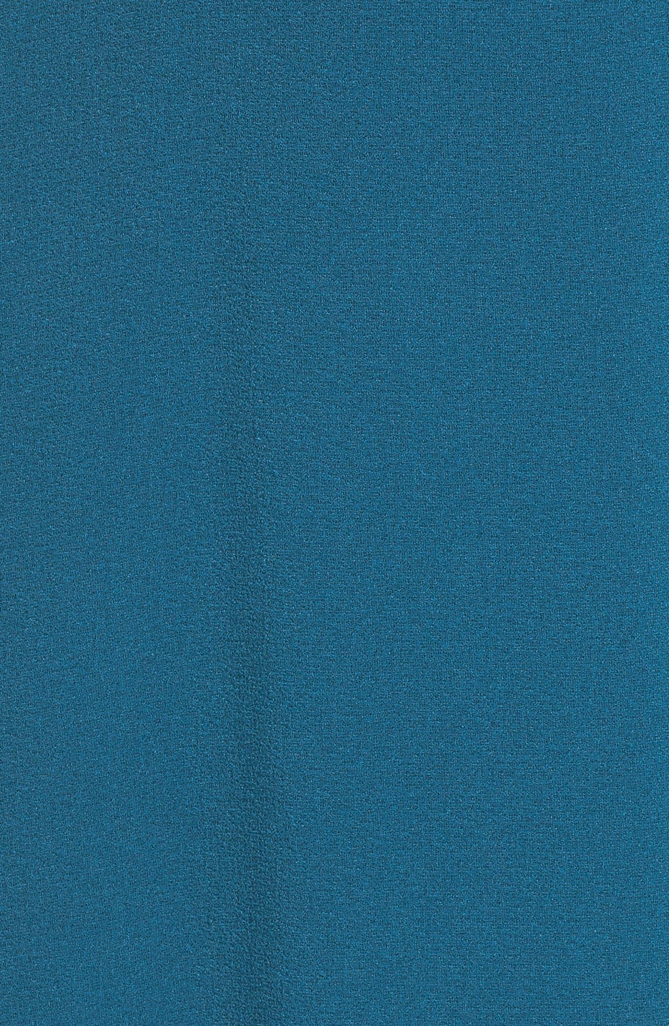 Crepe Wrap Dress,                             Alternate thumbnail 6, color,                             406