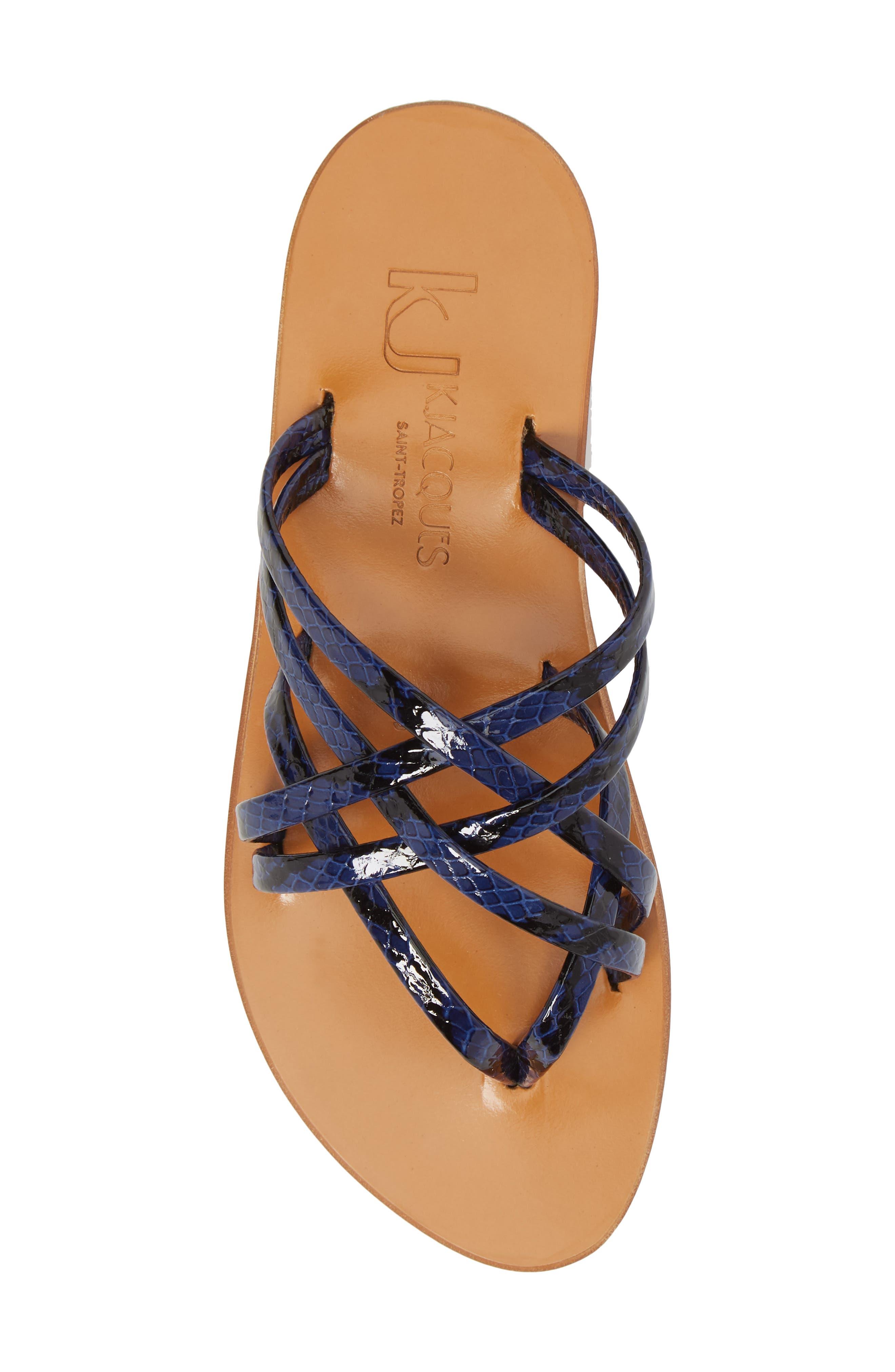 K. Jacques St. Tropez Strappy Thong Sandal,                             Alternate thumbnail 10, color,