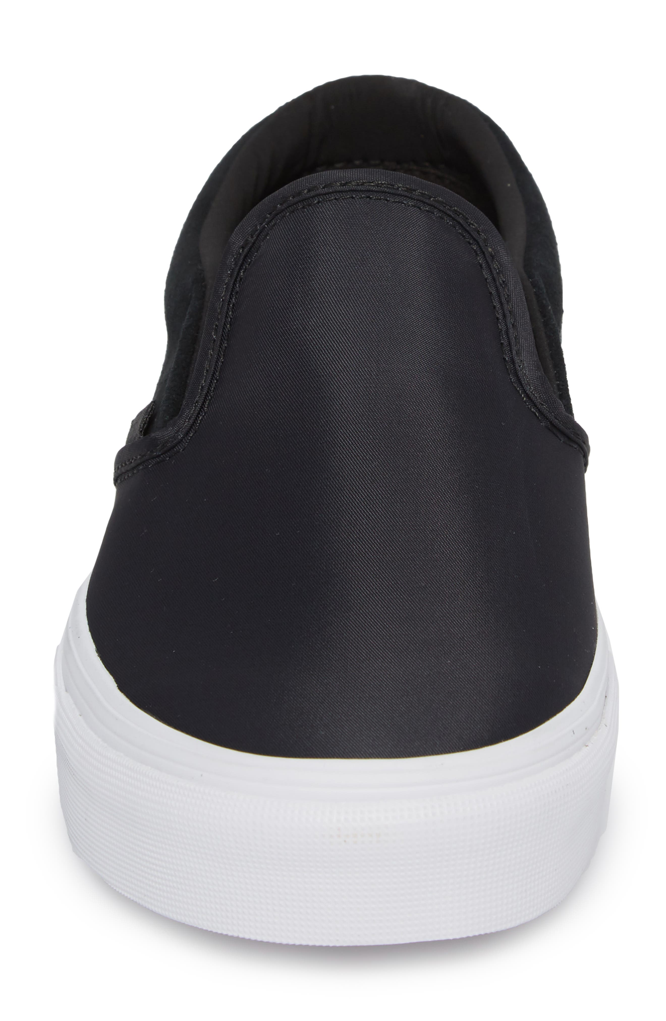 Surplus Nylon Slip-On Sneaker,                             Alternate thumbnail 4, color,                             001