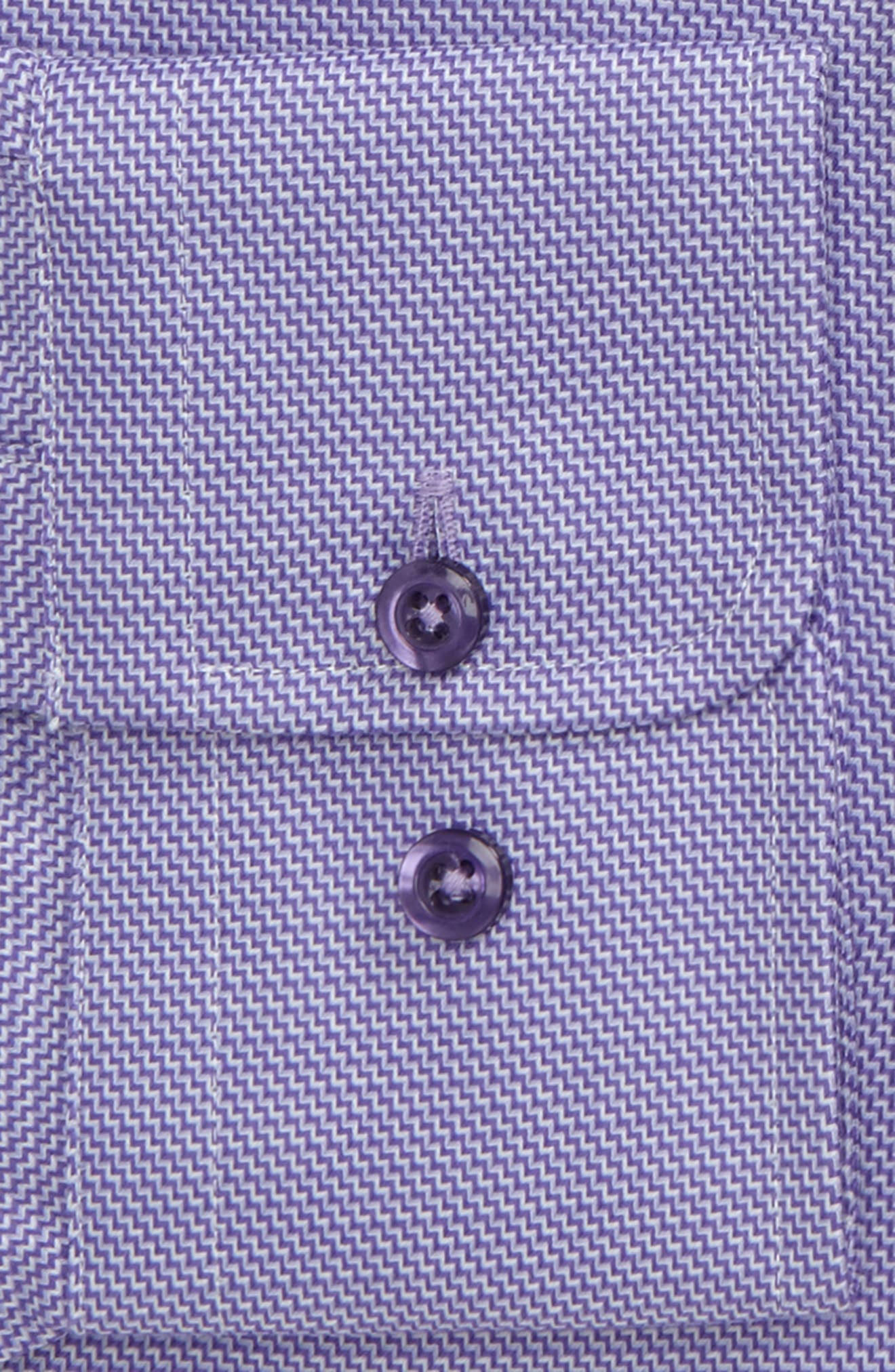 Trim Fit Solid Dress Shirt,                             Alternate thumbnail 2, color,                             LILAC