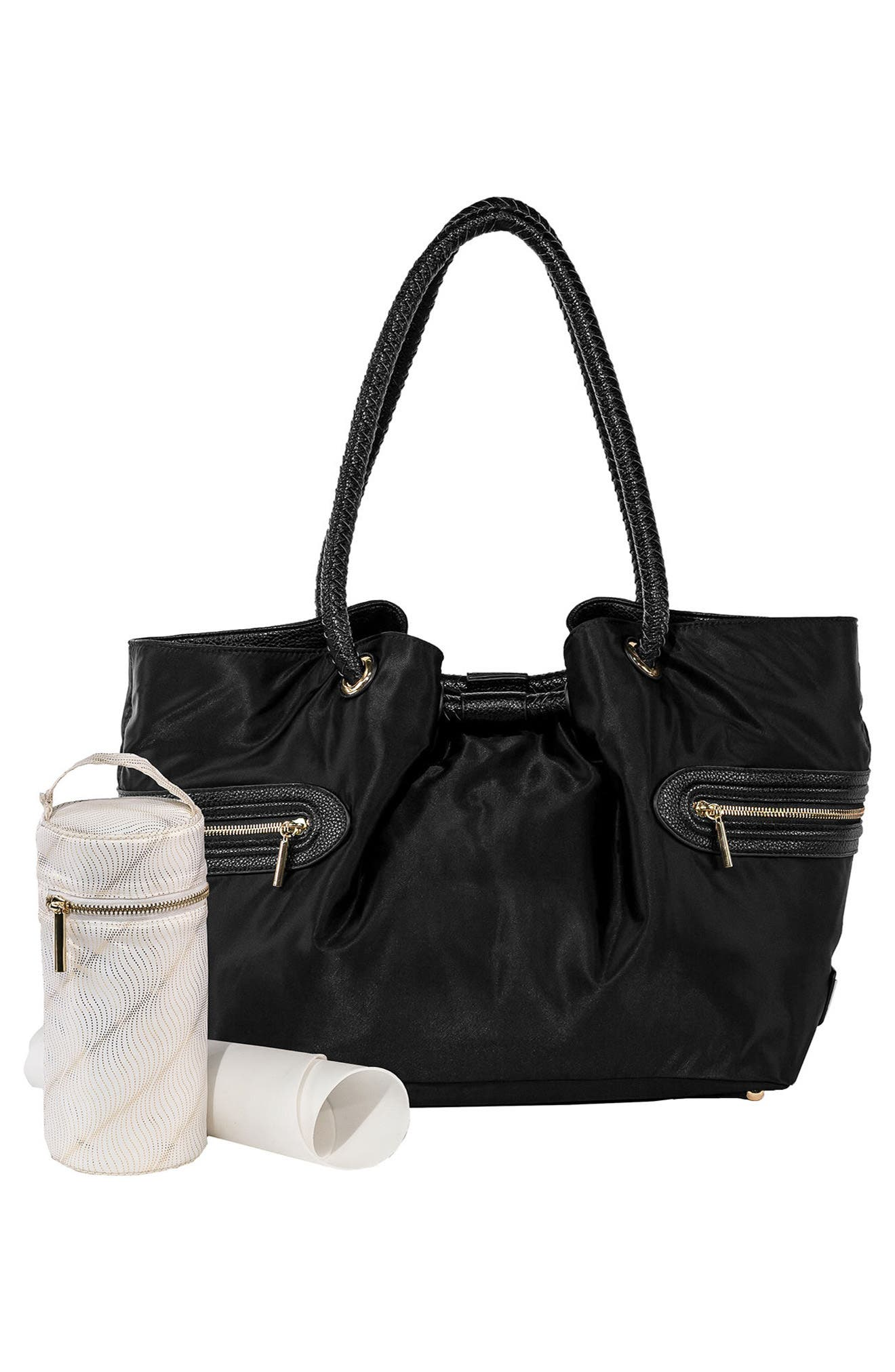 Addison Lane Diaper Bag,                             Alternate thumbnail 3, color,                             BLACK