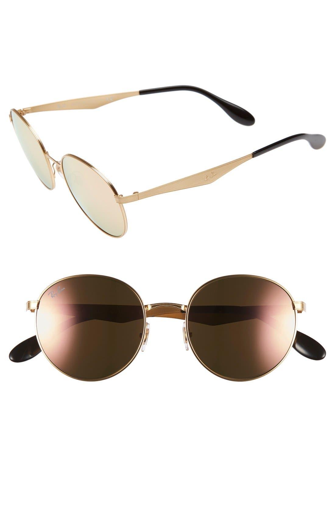 Highstreet 51mm Round Sunglasses,                             Main thumbnail 1, color,                             706