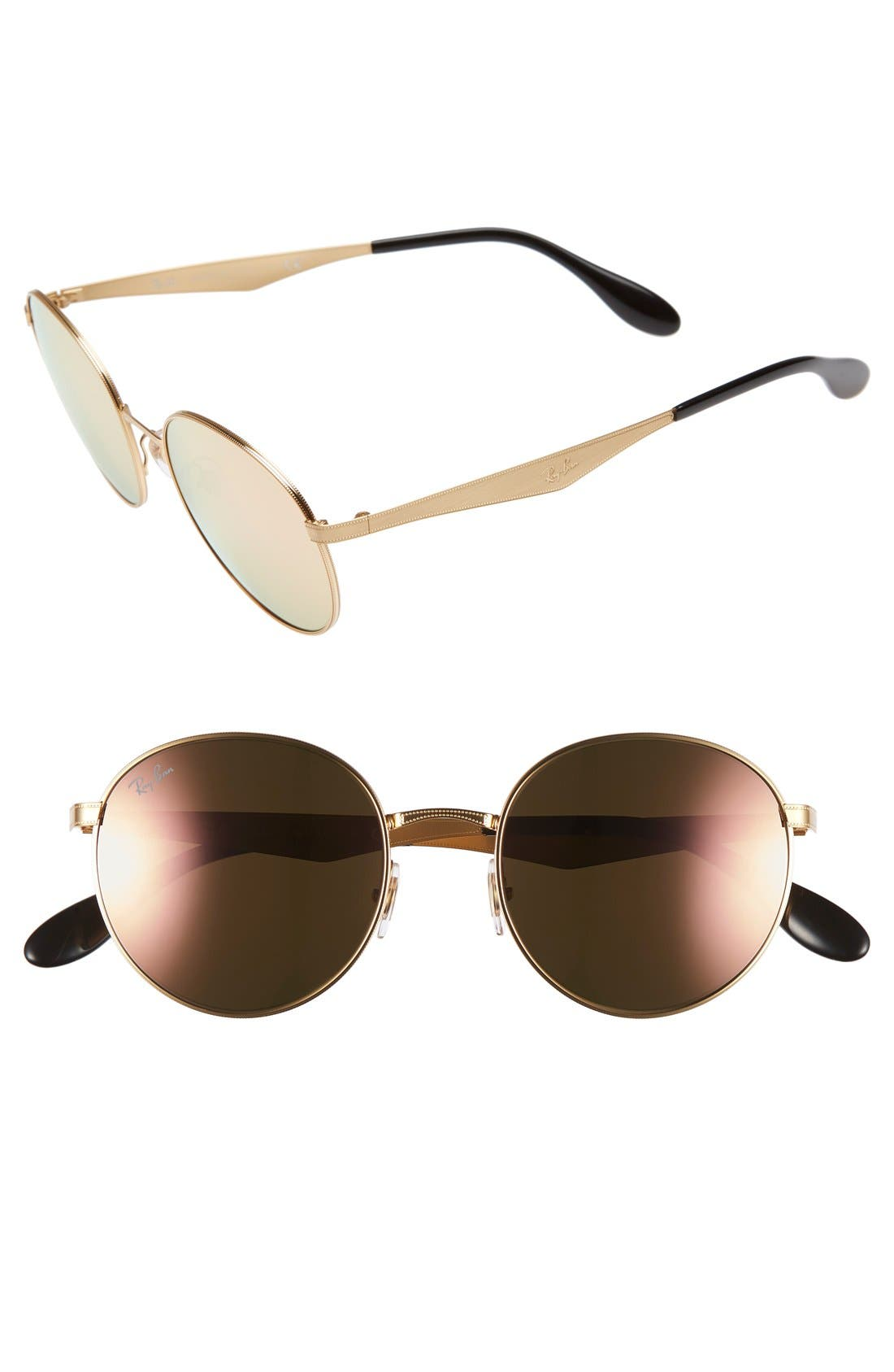 Highstreet 51mm Round Sunglasses, Main, color, 706