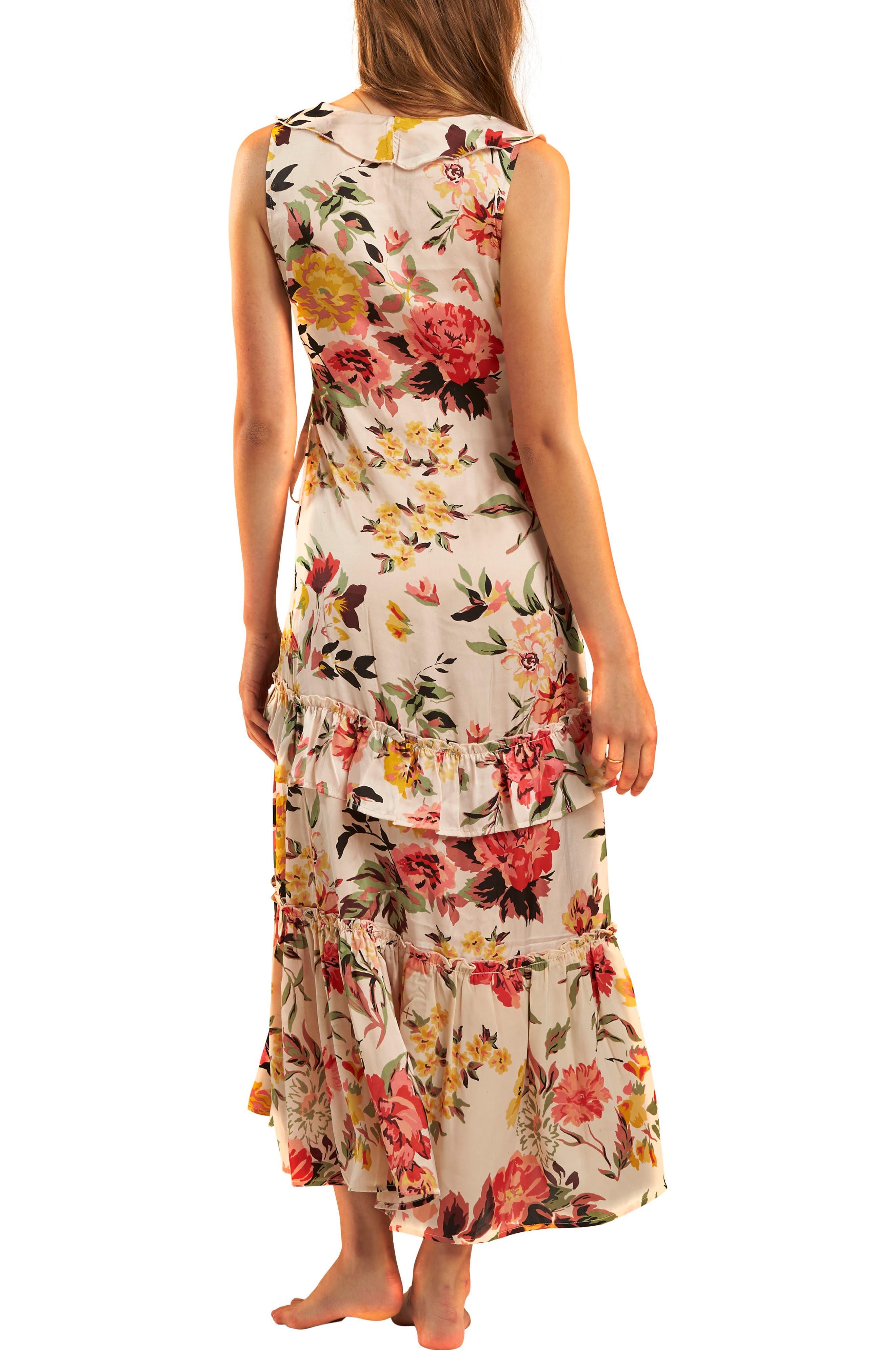 Ruffle Wrap Dress,                             Alternate thumbnail 5, color,