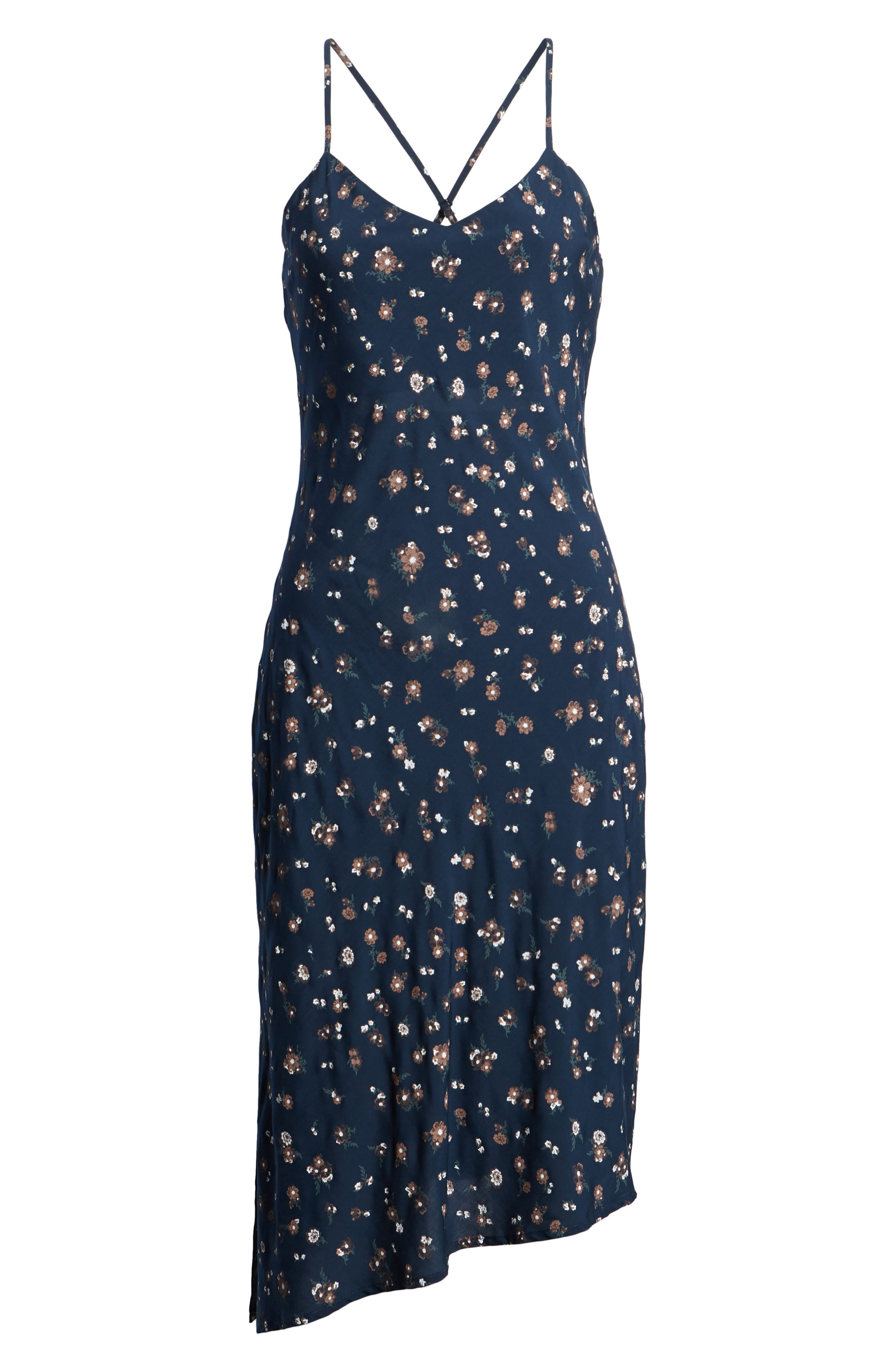Scarlett Print Midi Dress,                             Alternate thumbnail 7, color,                             400