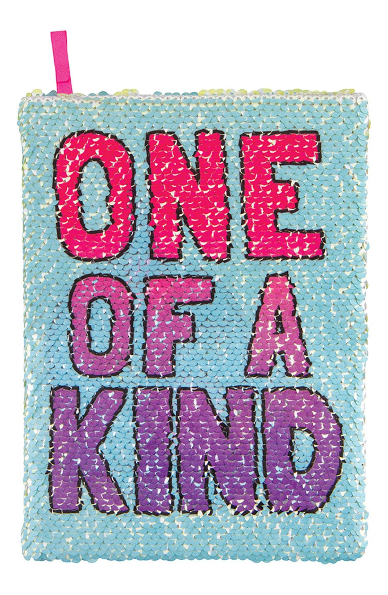 Narwhal One of a Kind Magic Sequin Reveal Journal,                             Main thumbnail 1, color,                             300