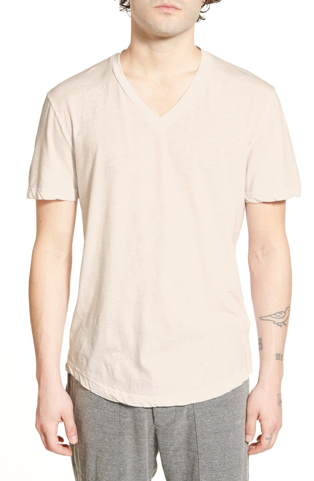 'Clear Jersey' Mélange V-Neck T-Shirt,                             Main thumbnail 6, color,