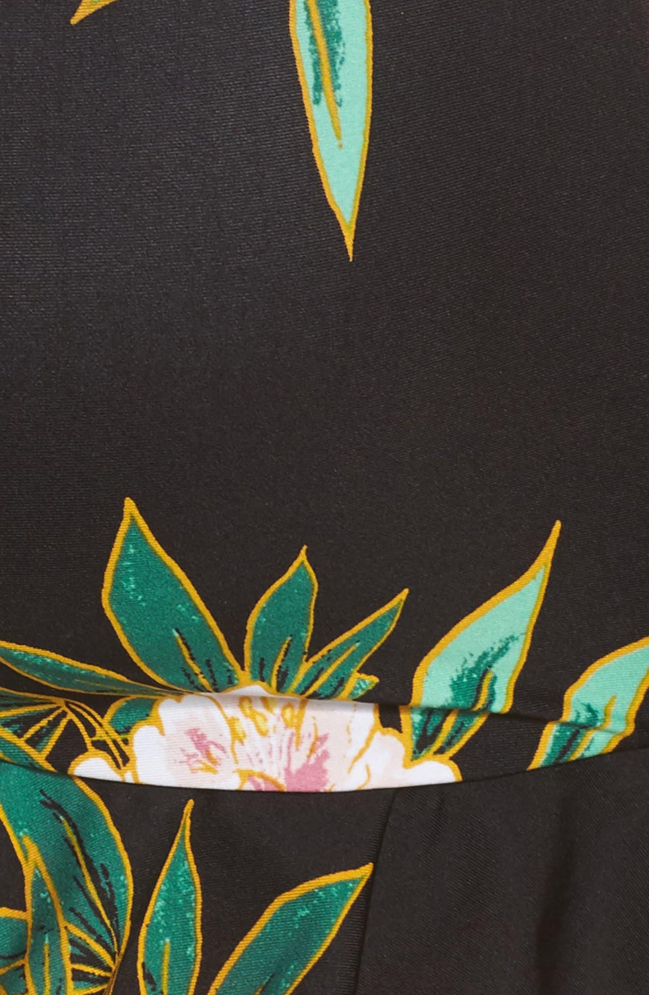 Tropicali Ruffle Bikini Top,                             Alternate thumbnail 5, color,                             001