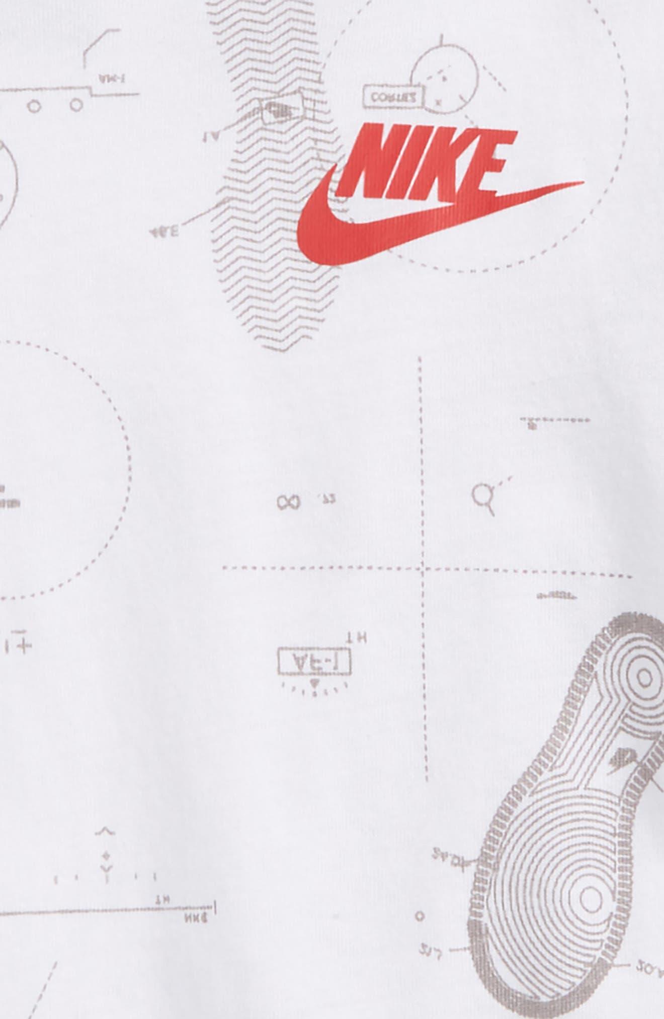 Shoeprint Blueprint Graphic T-Shirt,                             Alternate thumbnail 4, color,