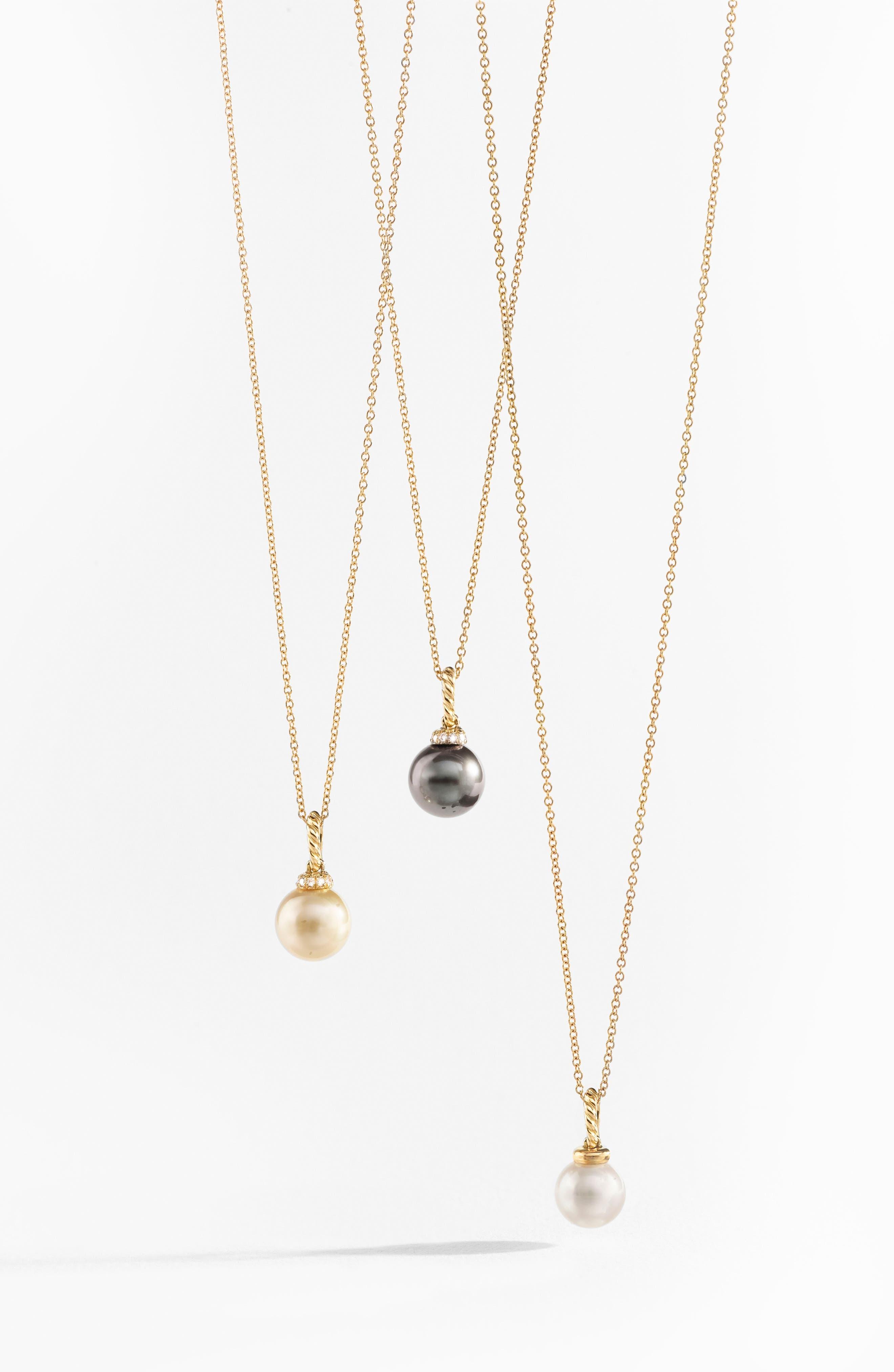 Solari Pendant Necklace with Diamonds,                             Alternate thumbnail 4, color,                             GOLD/ DIAMOND/ GREY PEARL
