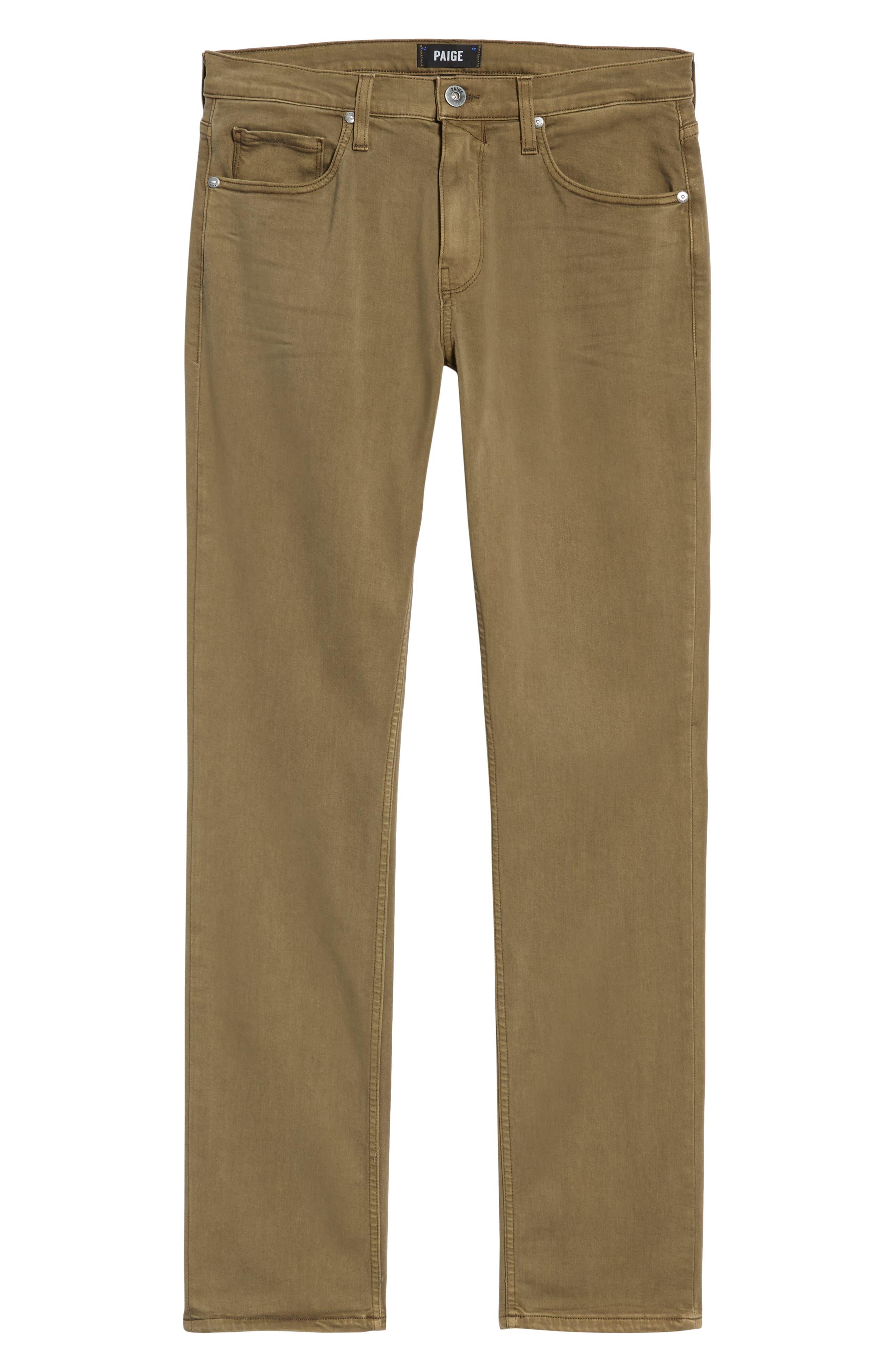 PAIGE,                             Transcend - Federal Slim Straight Leg Jeans,                             Alternate thumbnail 6, color,                             VINTAGE ARTICHOKE