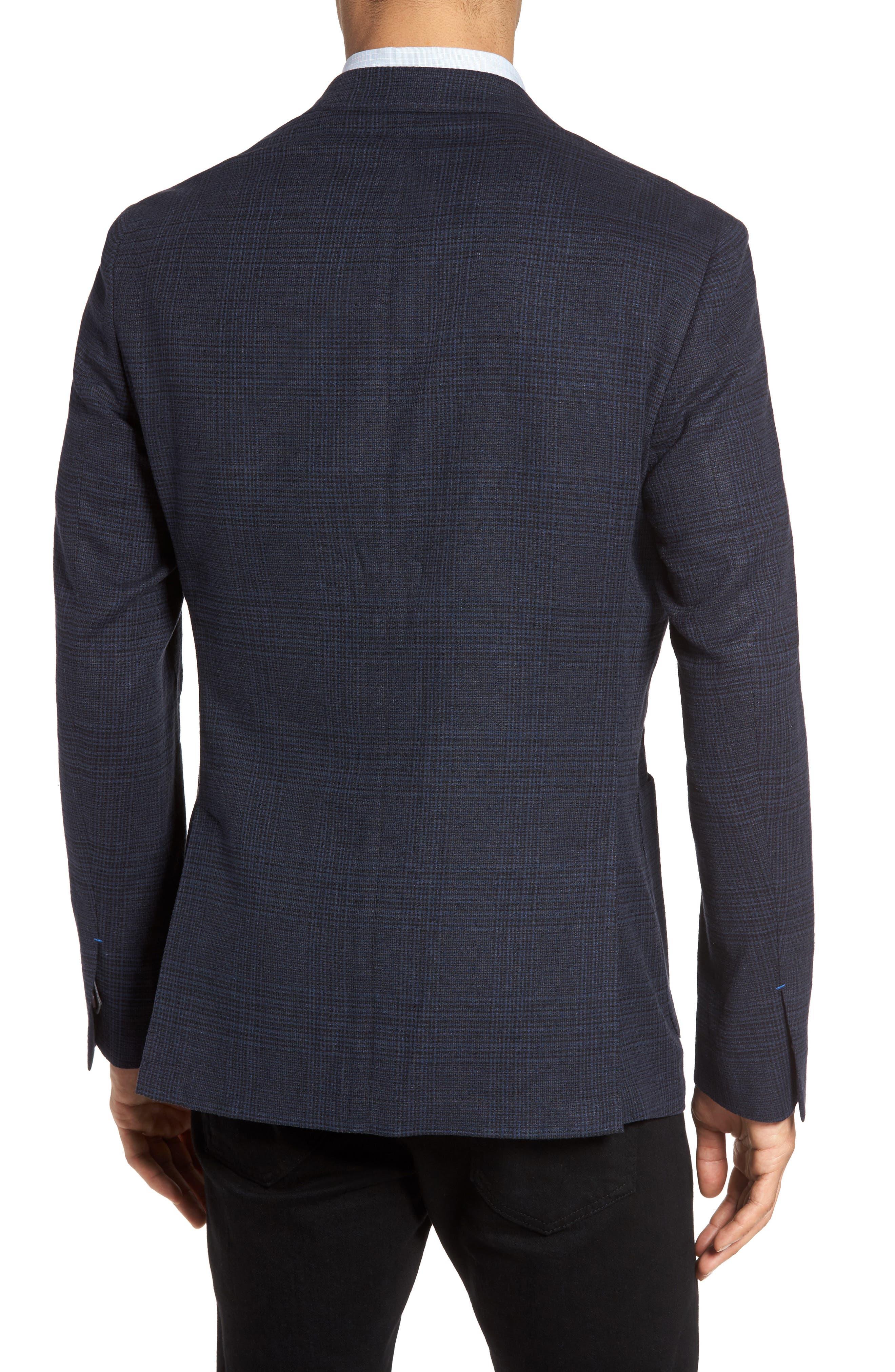 Delaria Plaid Wool Blend Jacket,                             Alternate thumbnail 4, color,