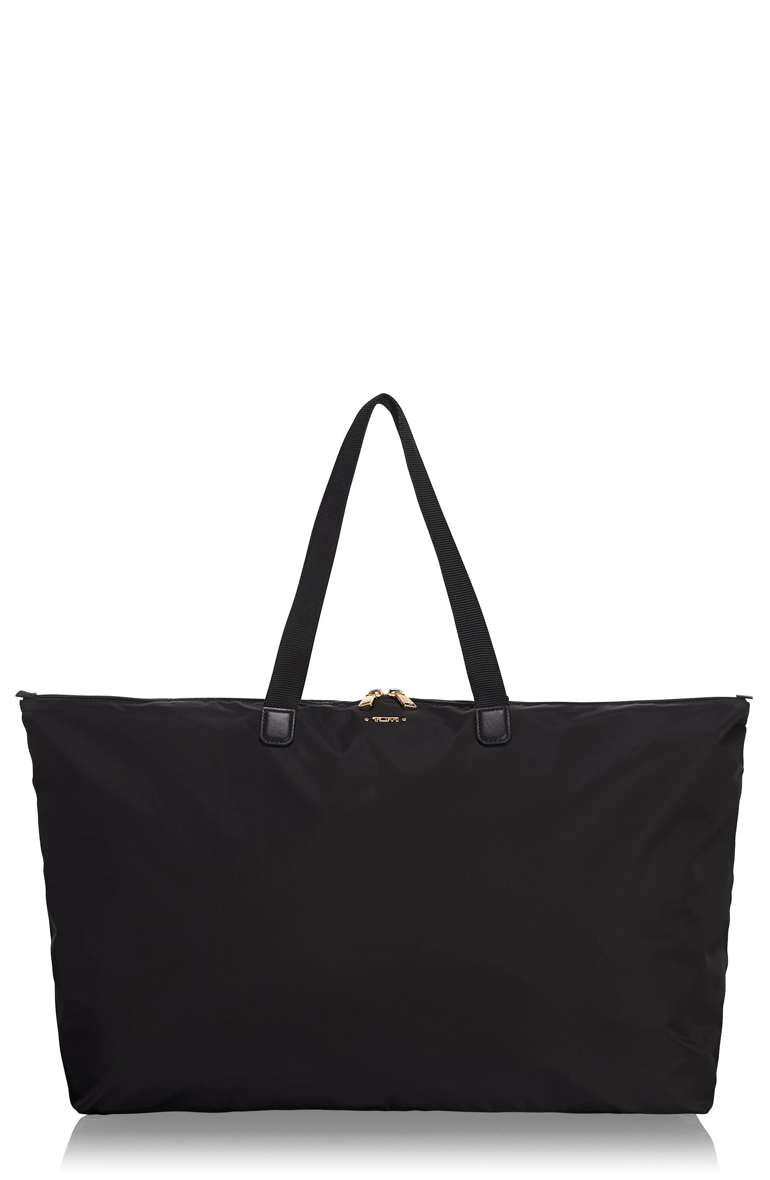 Tumi VOYAGEUR JUST IN CASE PACKABLE NYLON TOTE - BLACK
