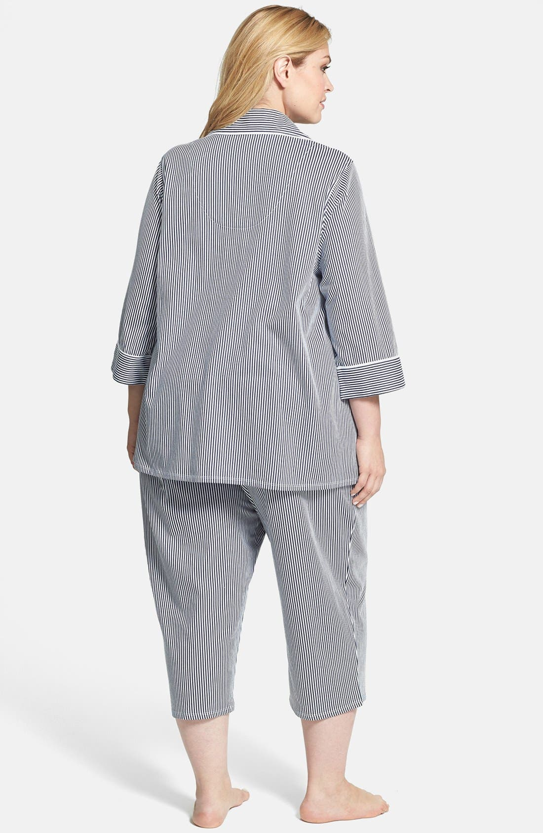 Knit Crop Pajamas,                             Alternate thumbnail 26, color,