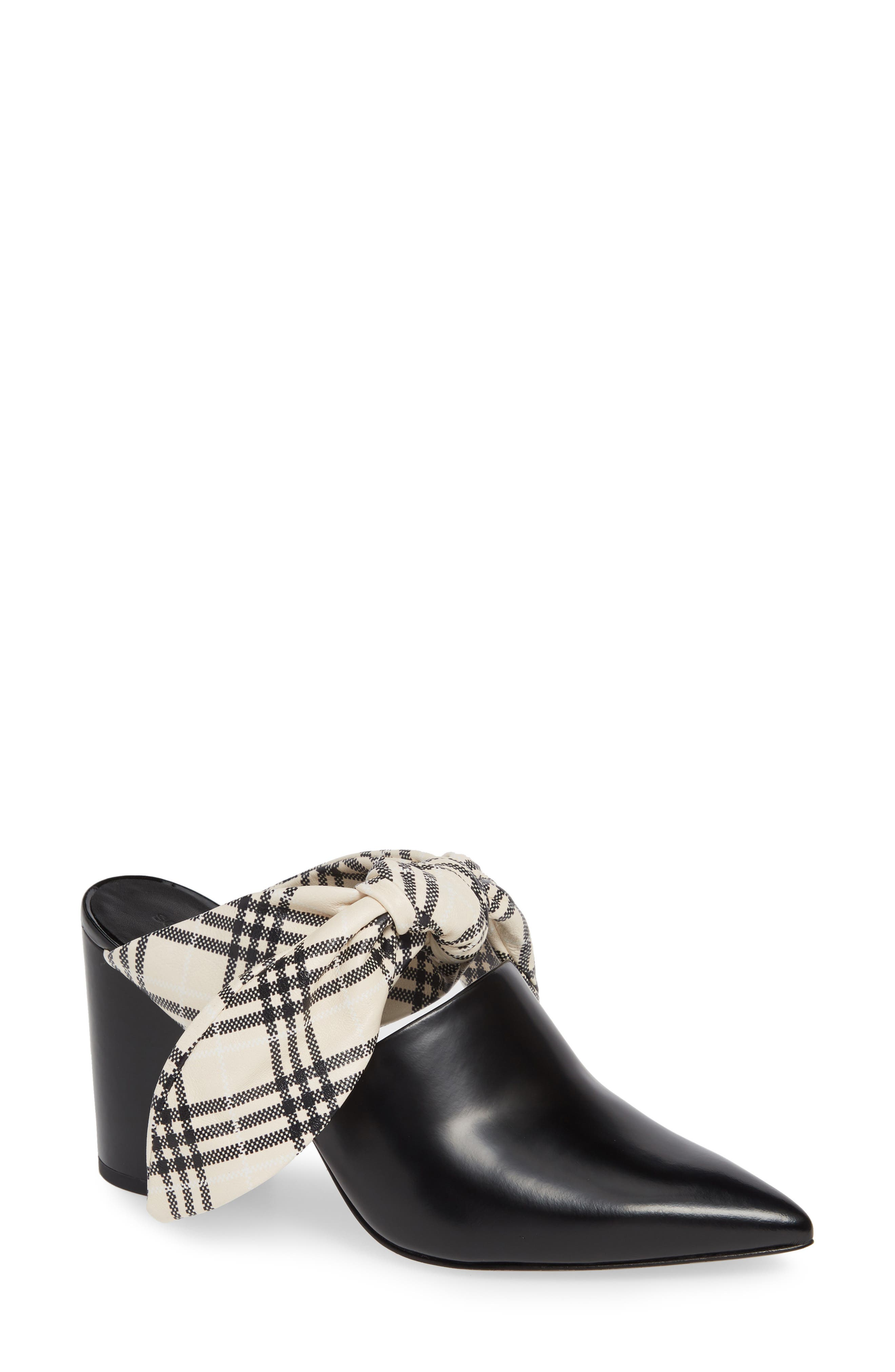 Lily Mule,                         Main,                         color, BLACK CALF LEATHER