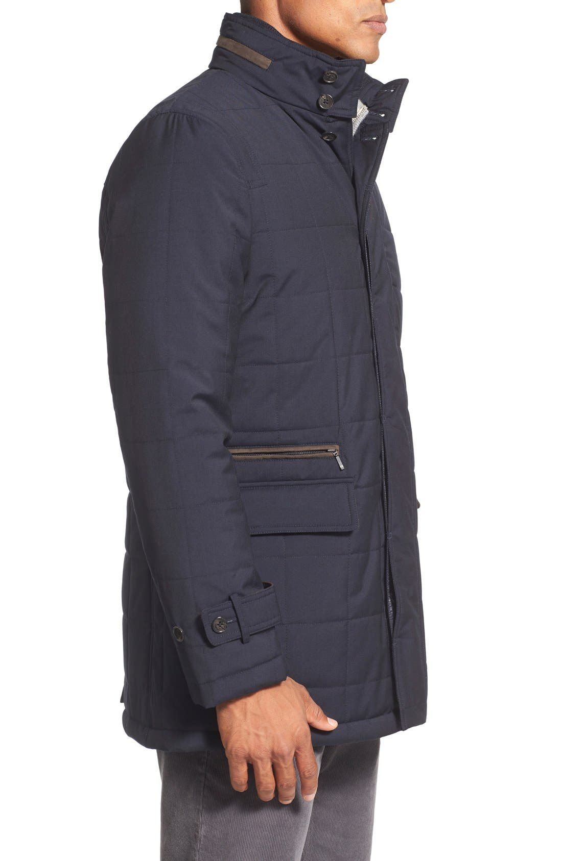 Quilted Wool Parka,                             Alternate thumbnail 3, color,                             410