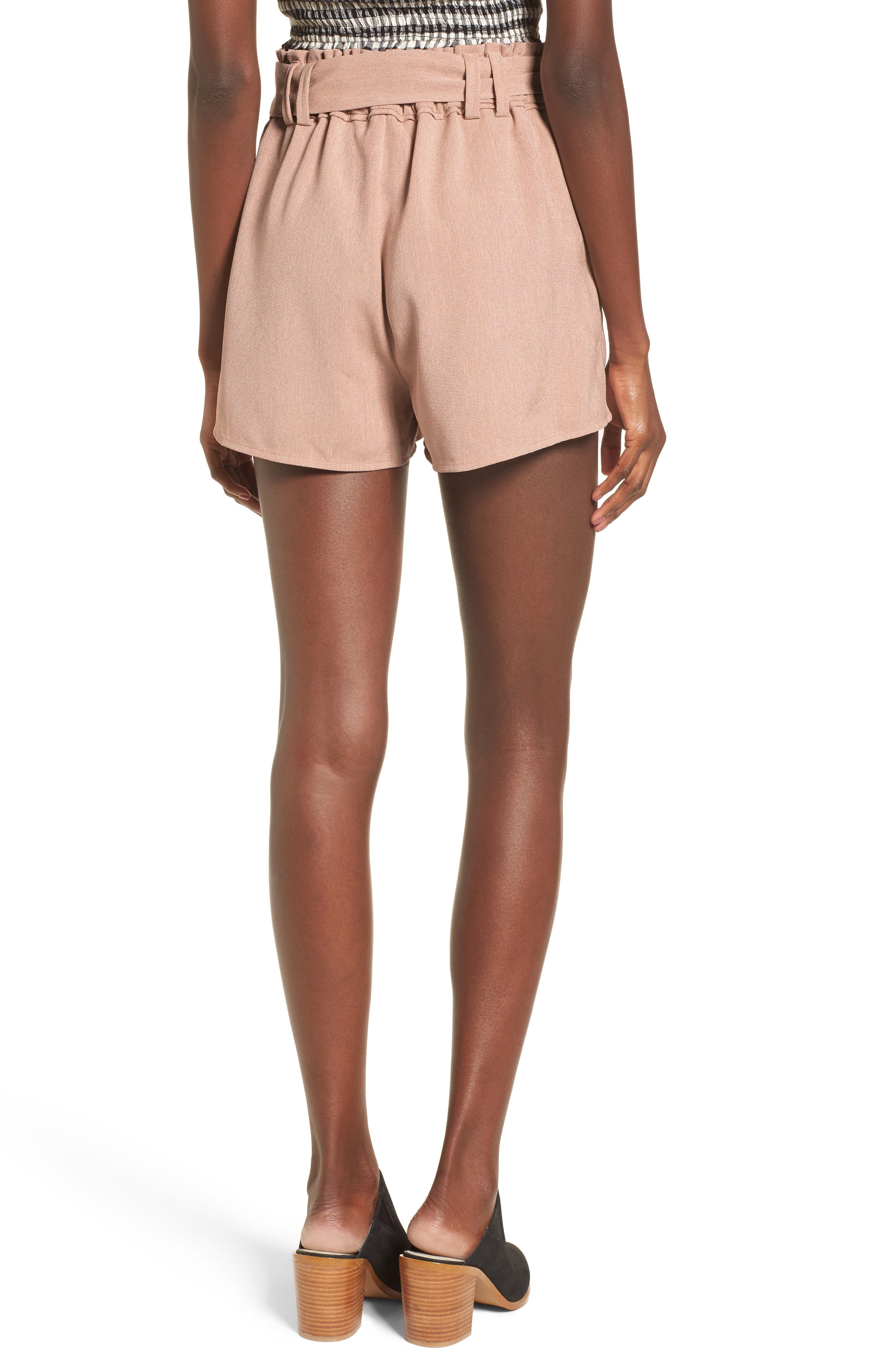 Tie Waist Shorts,                             Alternate thumbnail 2, color,                             DUSTY PINK