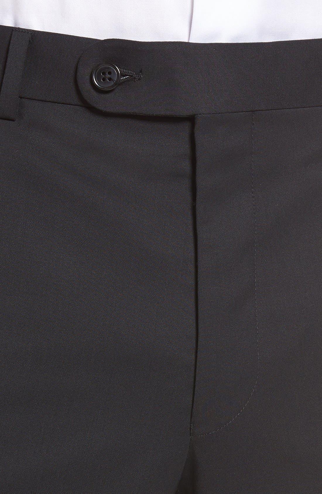 Ryan Regular Fit Wool Trousers,                             Alternate thumbnail 4, color,                             001