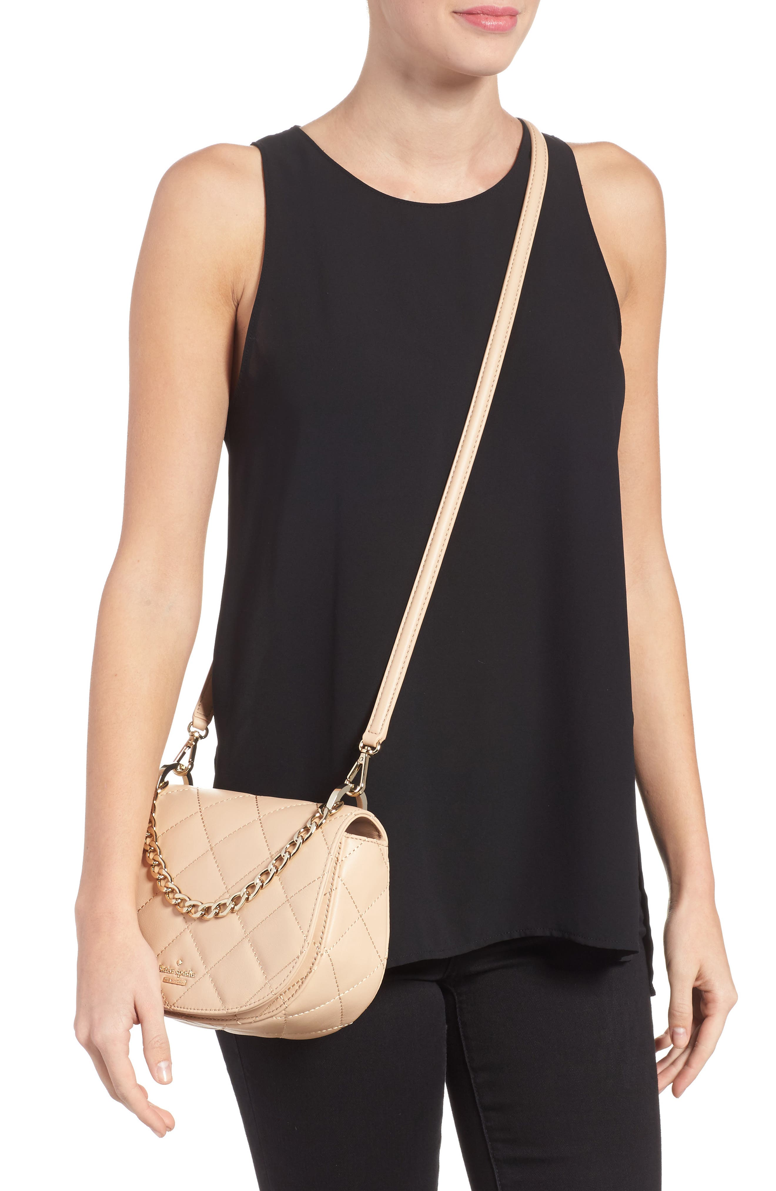 emerson place - rita quilted leather crossbody bag,                             Alternate thumbnail 4, color,