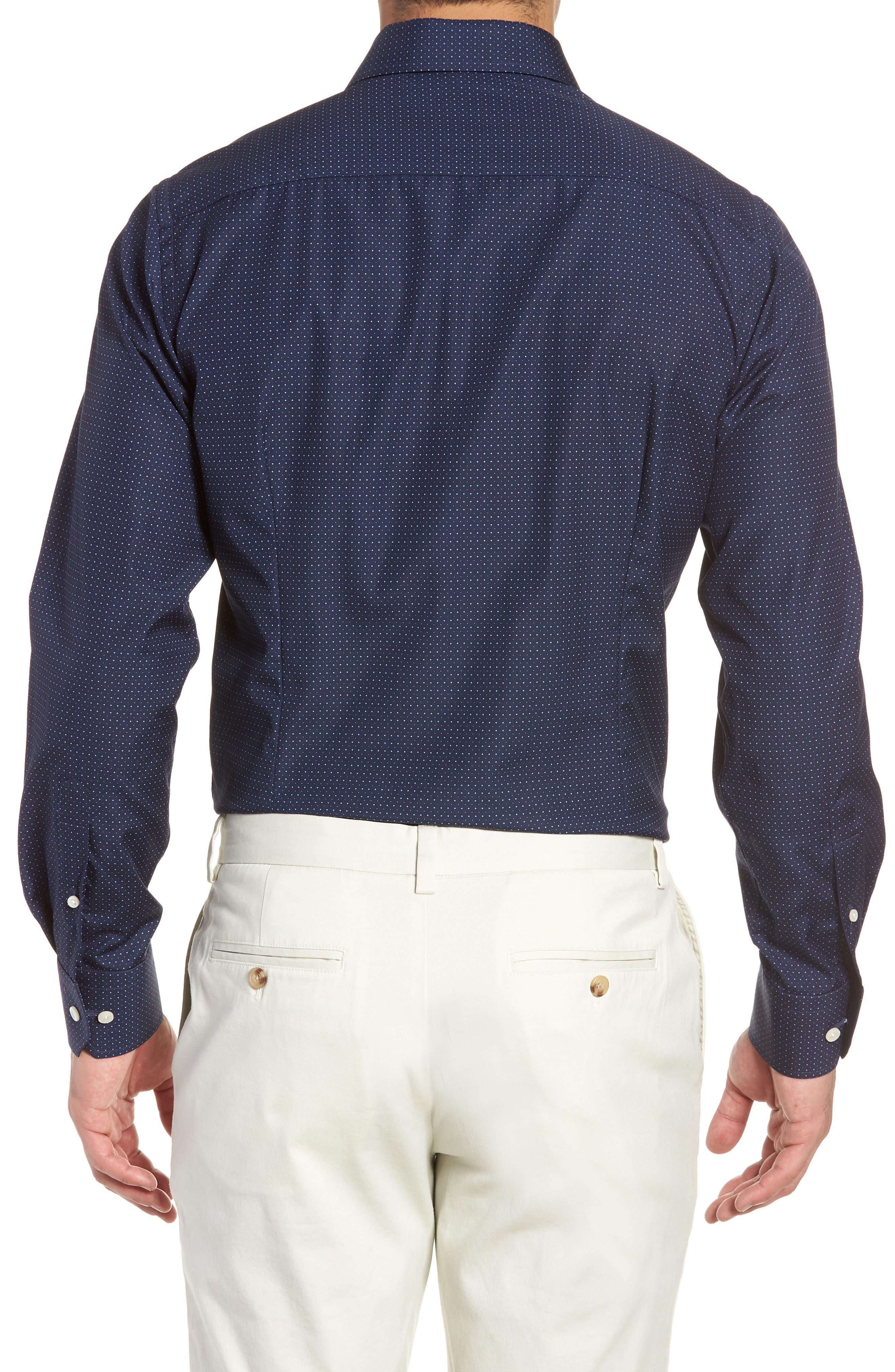 Contemporary Fit Dot Dress Shirt,                             Alternate thumbnail 6, color,