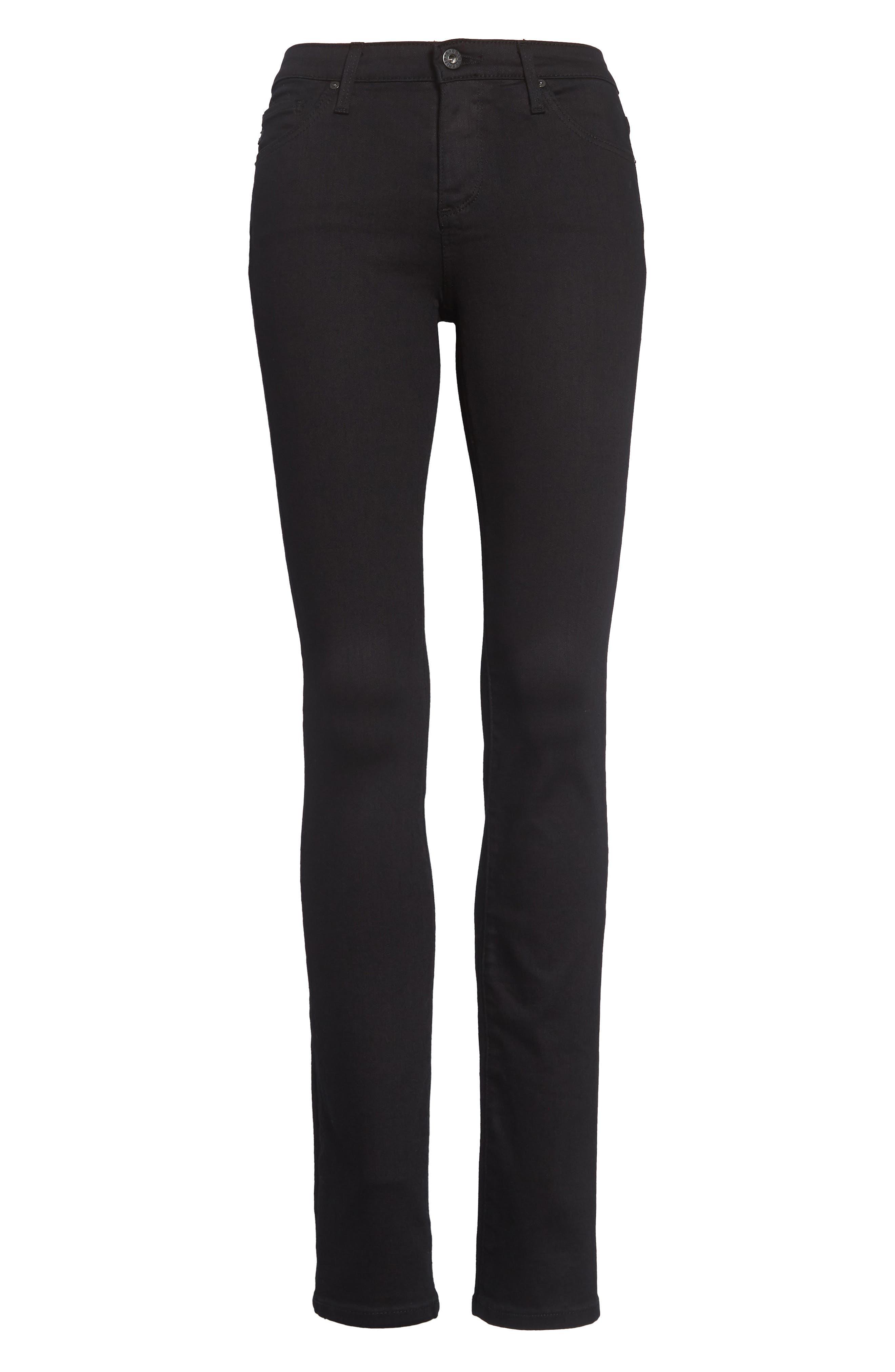 Harper Slim Straight Leg Jeans,                             Alternate thumbnail 2, color,                             OVERDYED BLACK