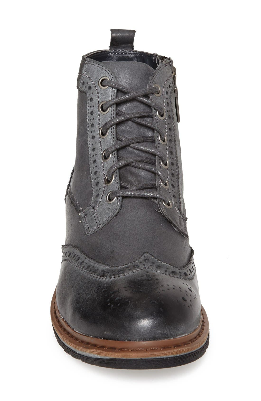 'Damien' Waterproof Wingtip Boot,                             Alternate thumbnail 3, color,