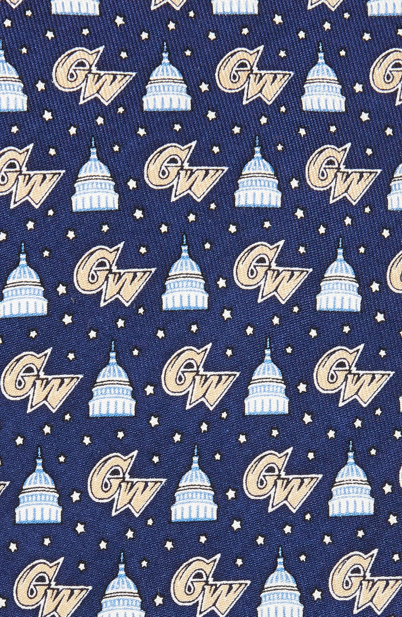 George Washington University Silk Tie,                             Alternate thumbnail 2, color,                             410