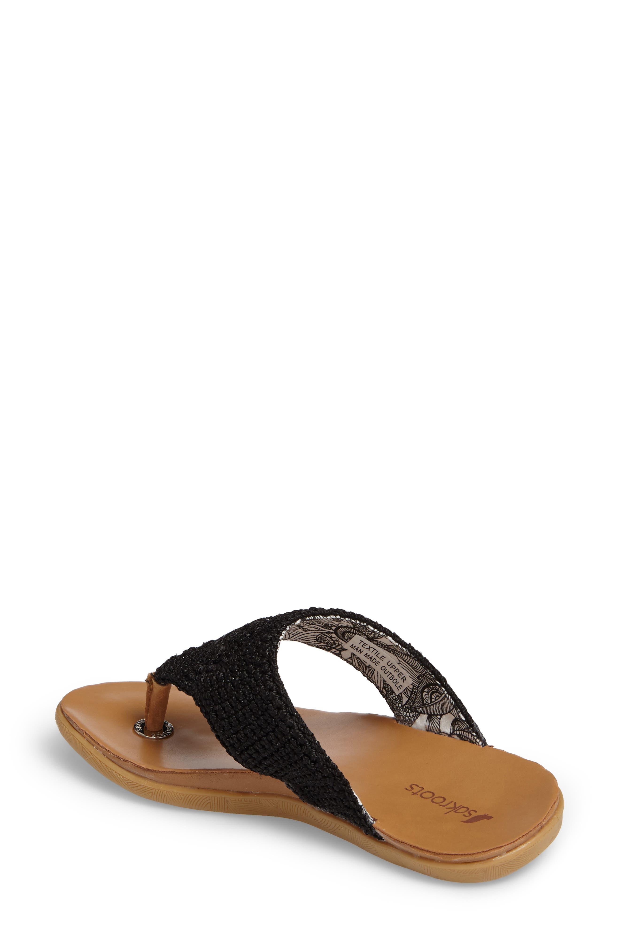 Sarria Flip Flop,                             Alternate thumbnail 2, color,                             BLACK SPARKLE FABRIC
