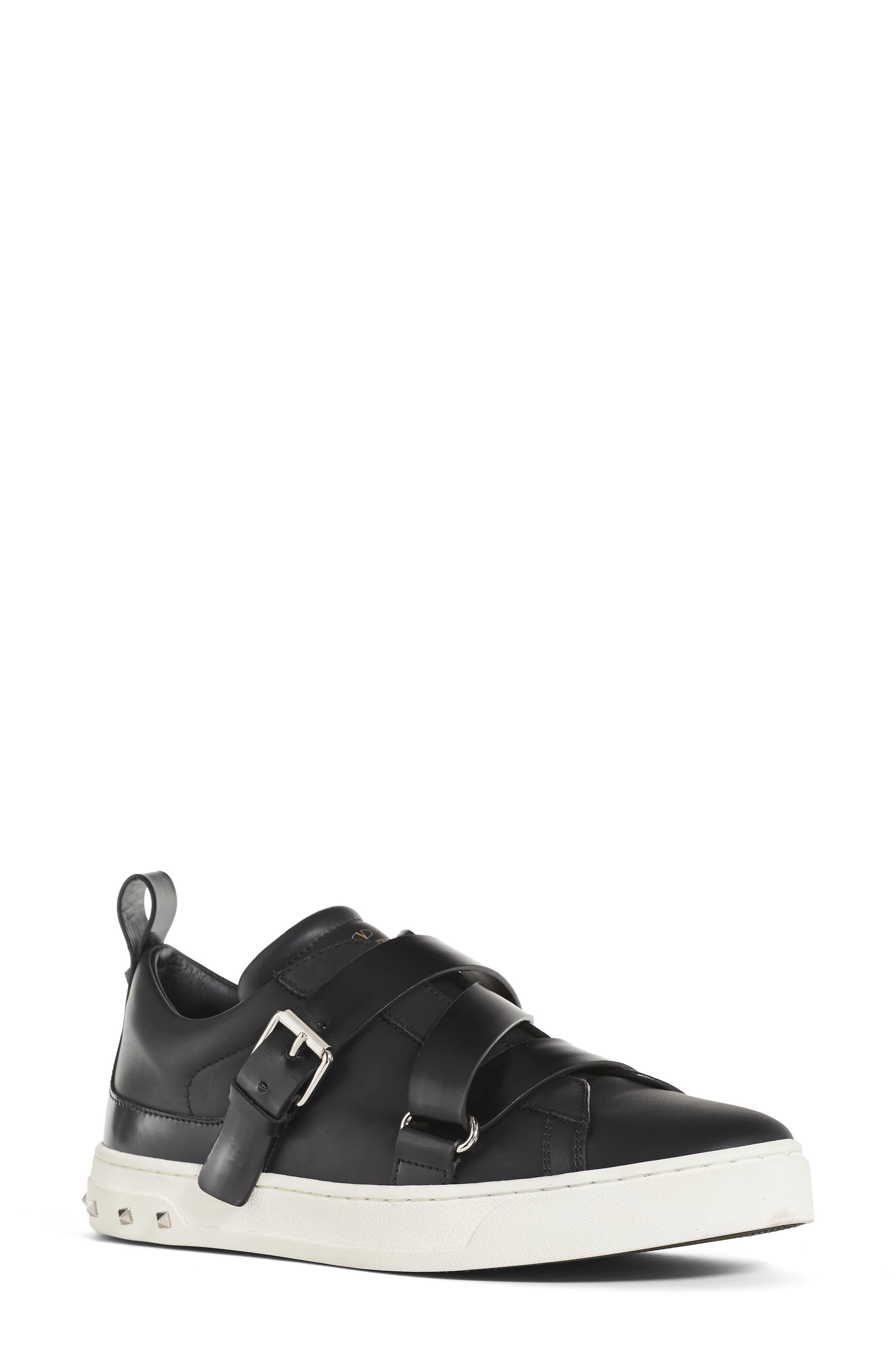 Rockstud Strappy Sneaker,                         Main,                         color, 001