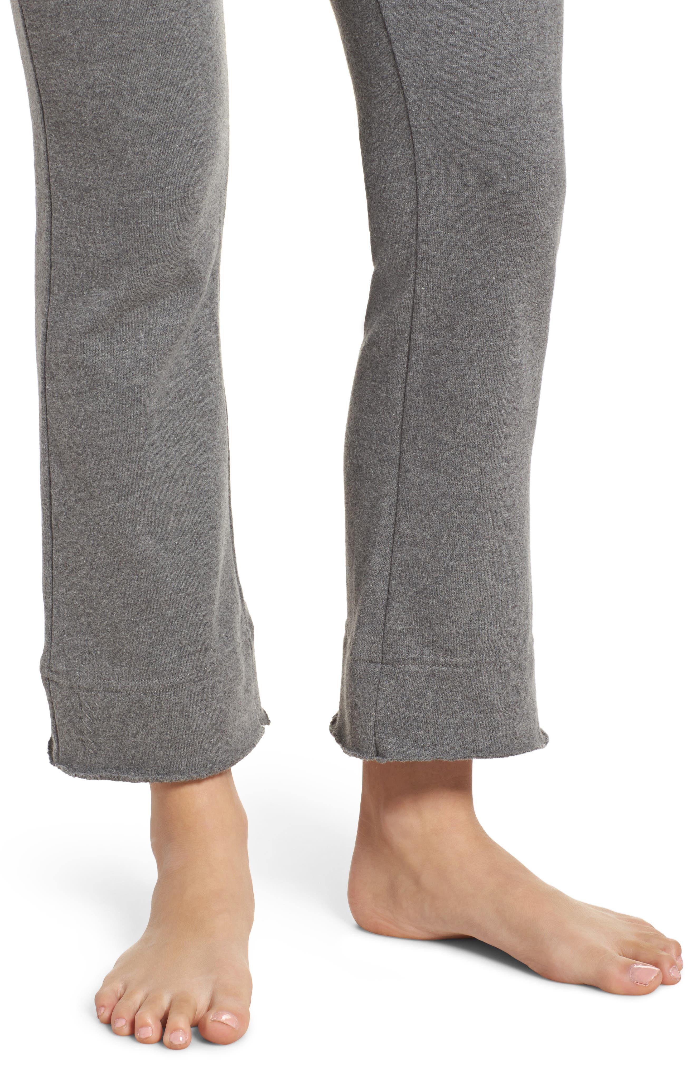 Crop Flare Sweatpants,                             Alternate thumbnail 4, color,                             020