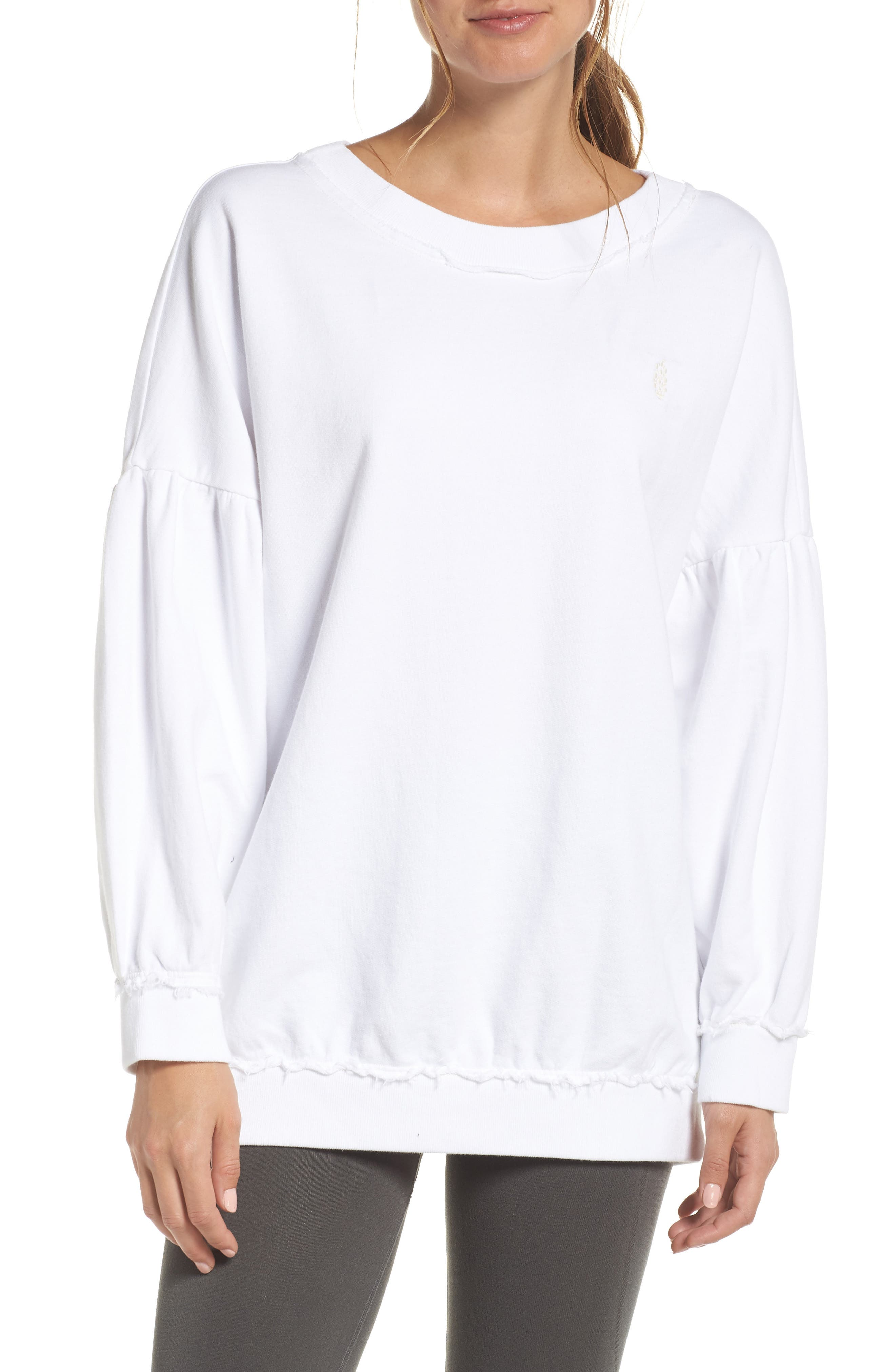 Make it Count Pullover,                         Main,                         color, WHITE