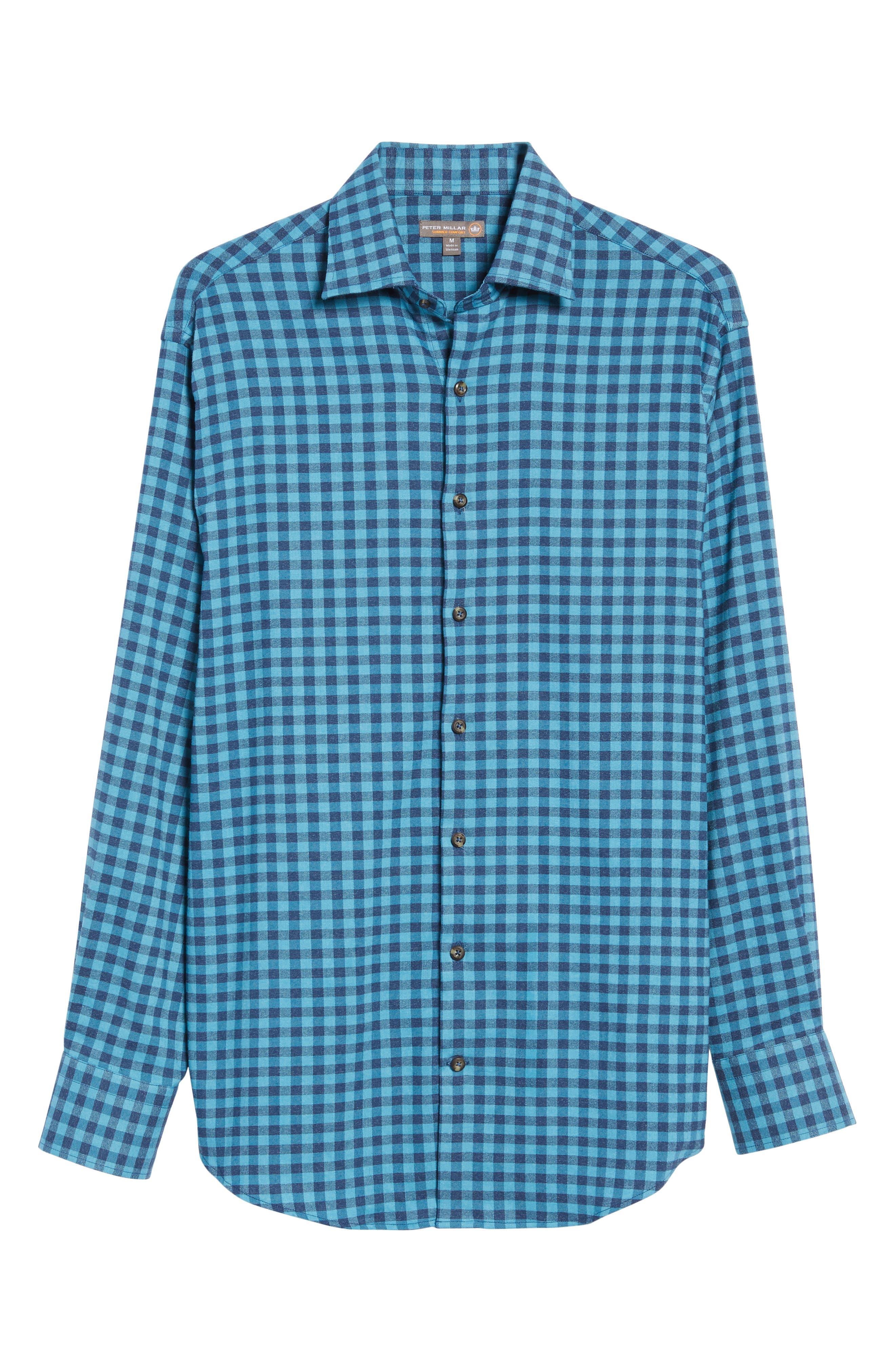 Vedder Gingham Regular Fit Performance Sport Shirt,                             Alternate thumbnail 17, color,