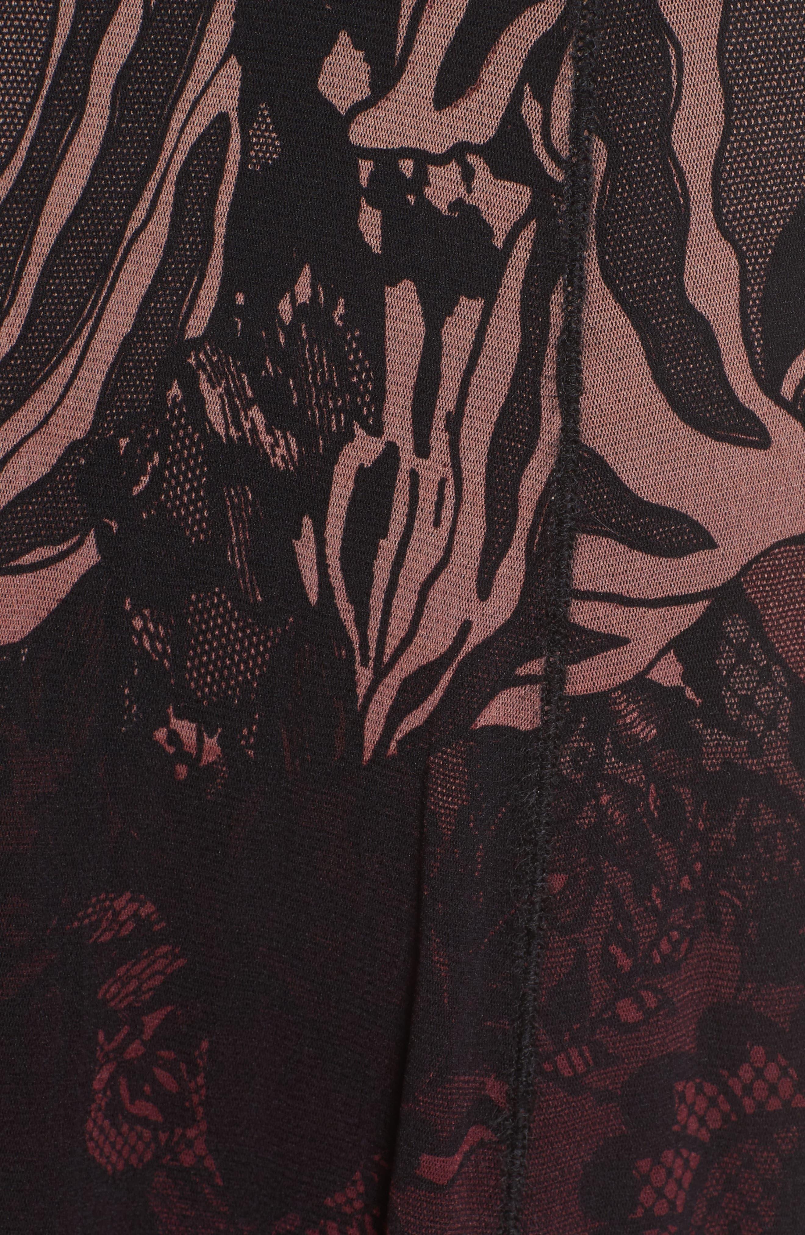 Tulle Midi Skirt,                             Alternate thumbnail 5, color,                             930
