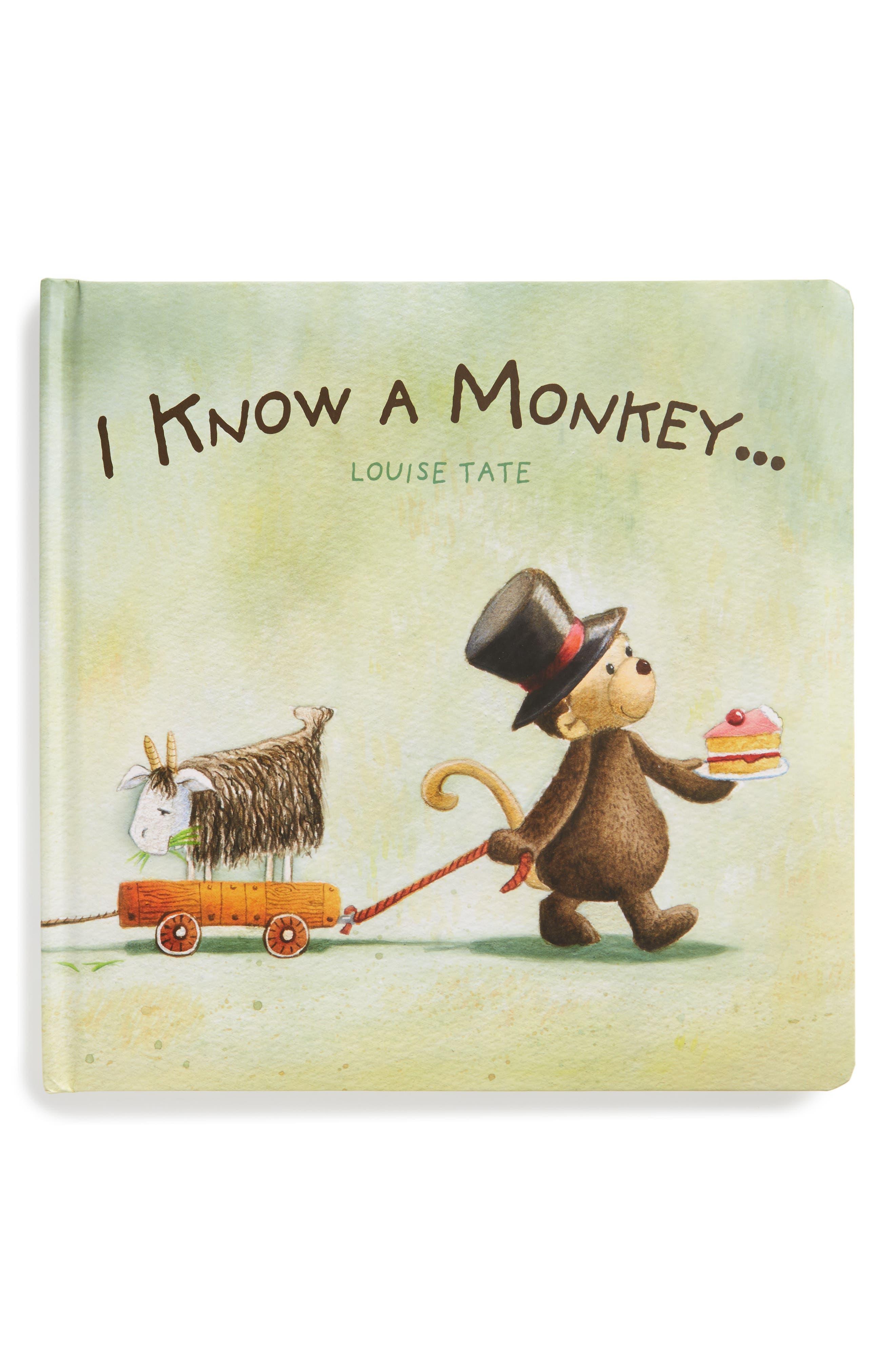 'I Know a Monkey' Board Book,                             Main thumbnail 1, color,                             NO COLOR