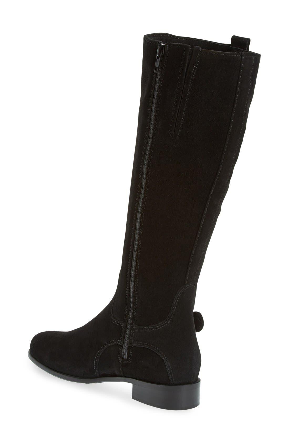 'Stefanie' Waterproof Boot,                             Alternate thumbnail 7, color,                             BLACK SUEDE