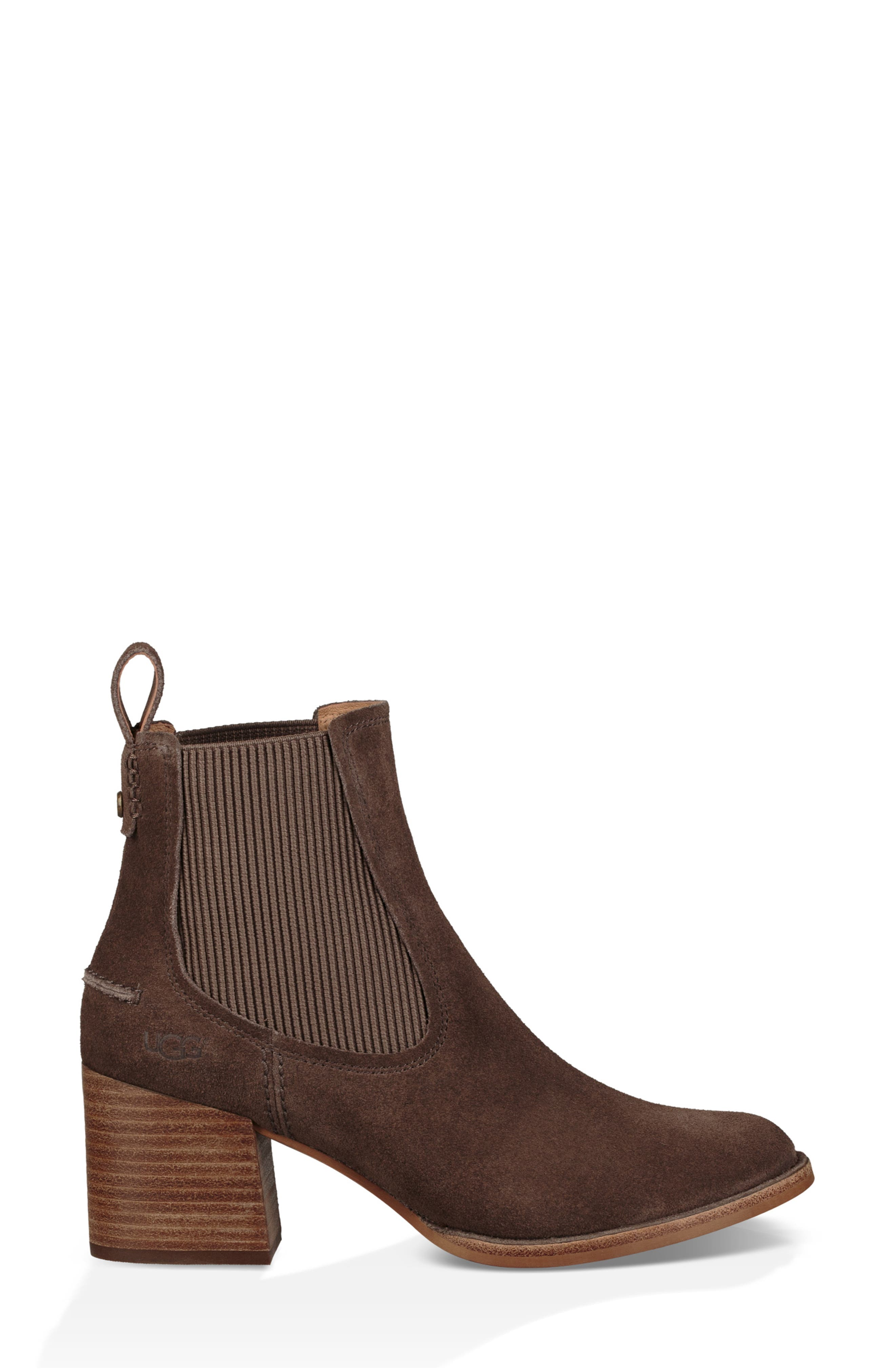 Faye Chelsea Bootie,                             Alternate thumbnail 3, color,                             MYSTERIOUS SUEDE