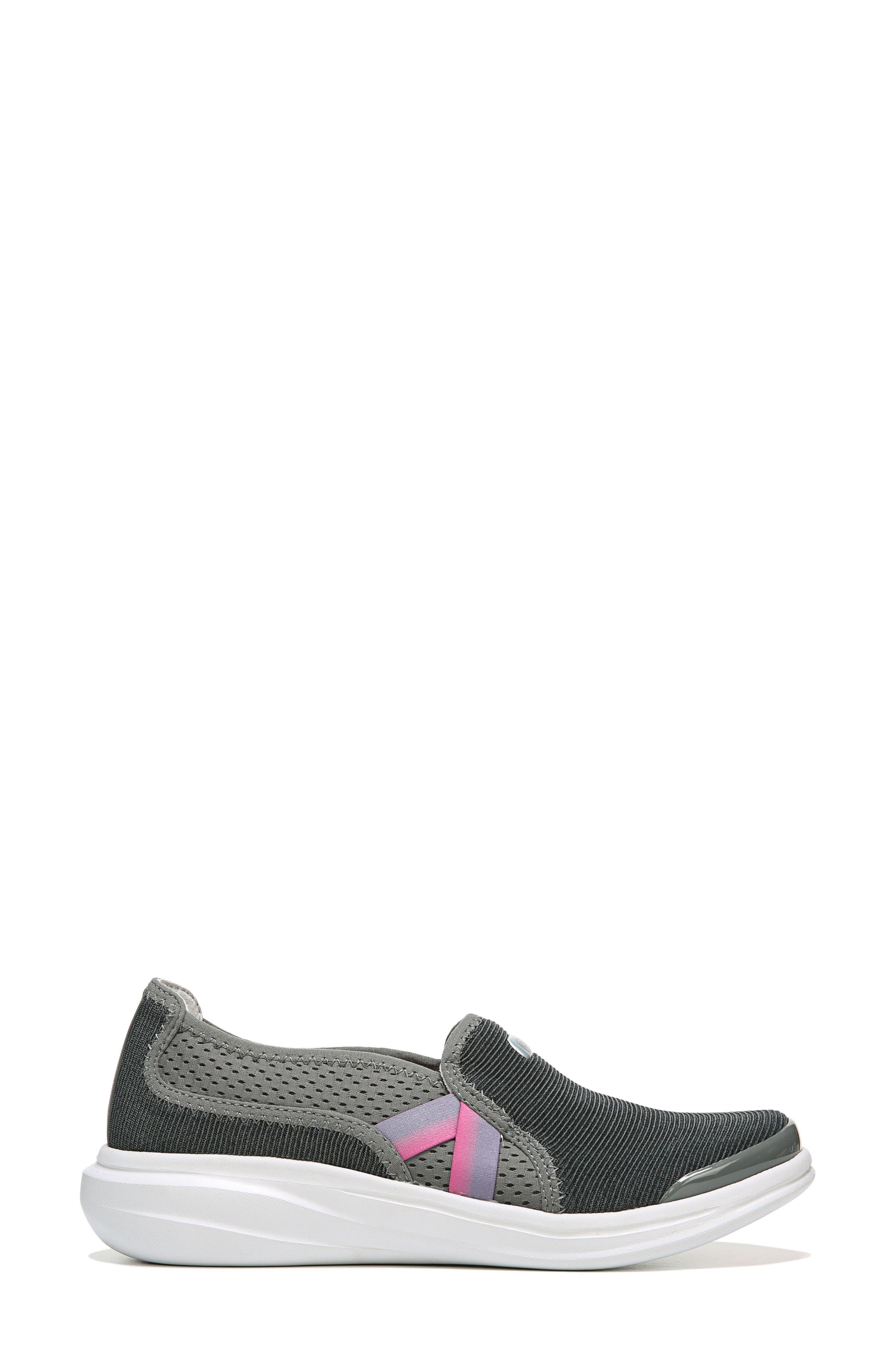 Cruise Slip-On Sneaker,                             Alternate thumbnail 3, color,                             DARK GREY FABRIC