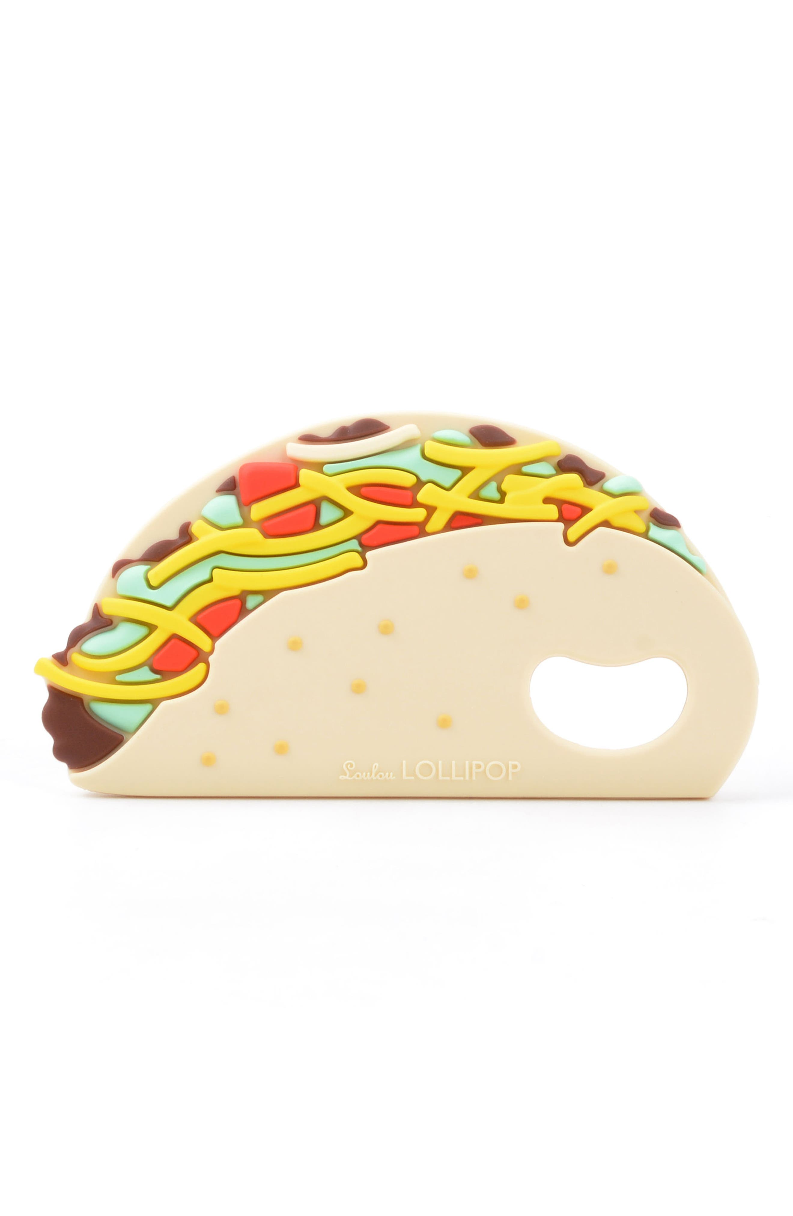 Taco Teething Toy & Holder,                             Alternate thumbnail 2, color,                             MULTI