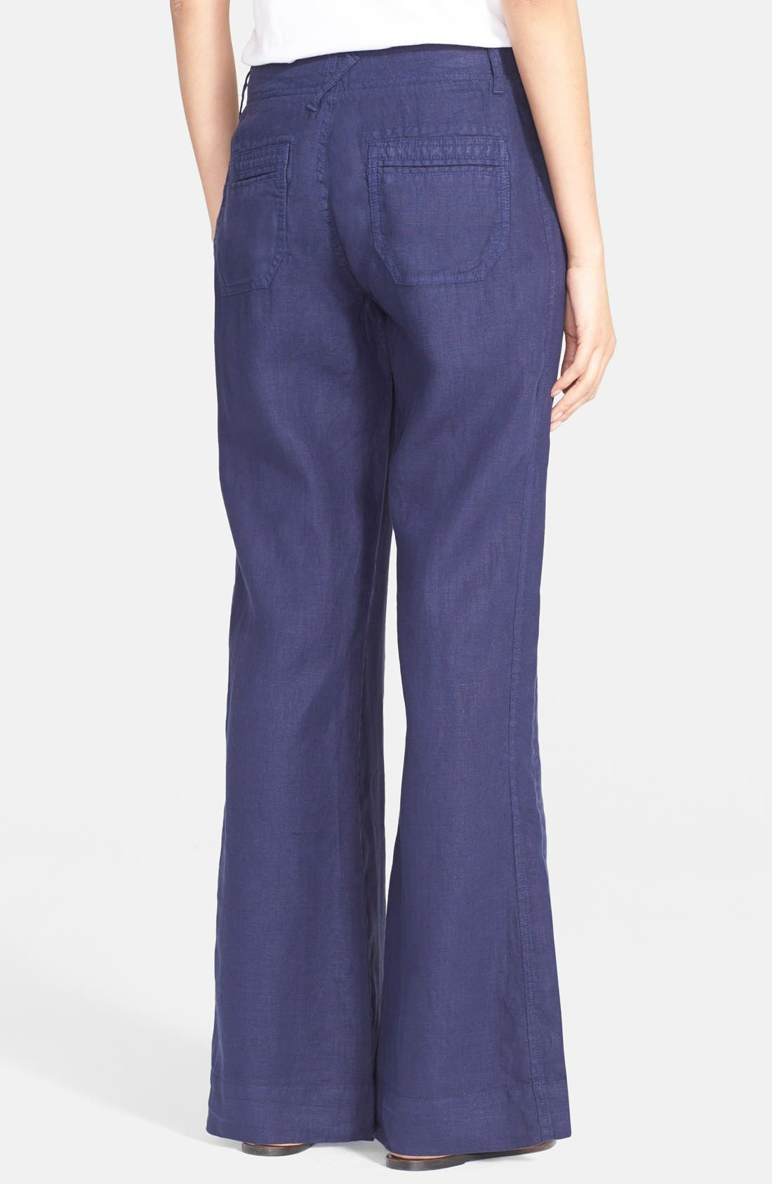Wide Leg Linen Pants,                             Alternate thumbnail 2, color,                             418