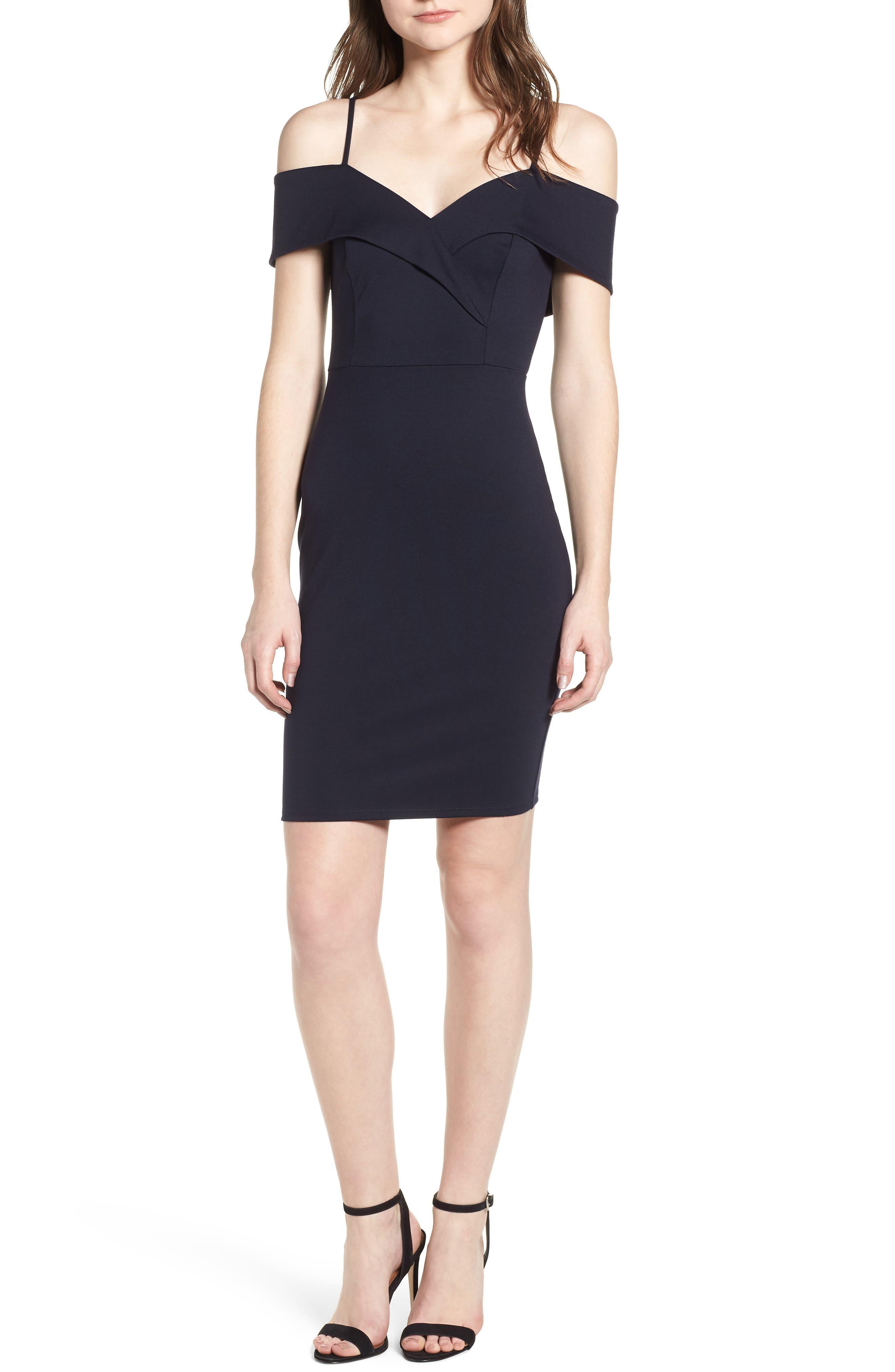 Cold Shoulder Body-Con Dress,                             Main thumbnail 2, color,