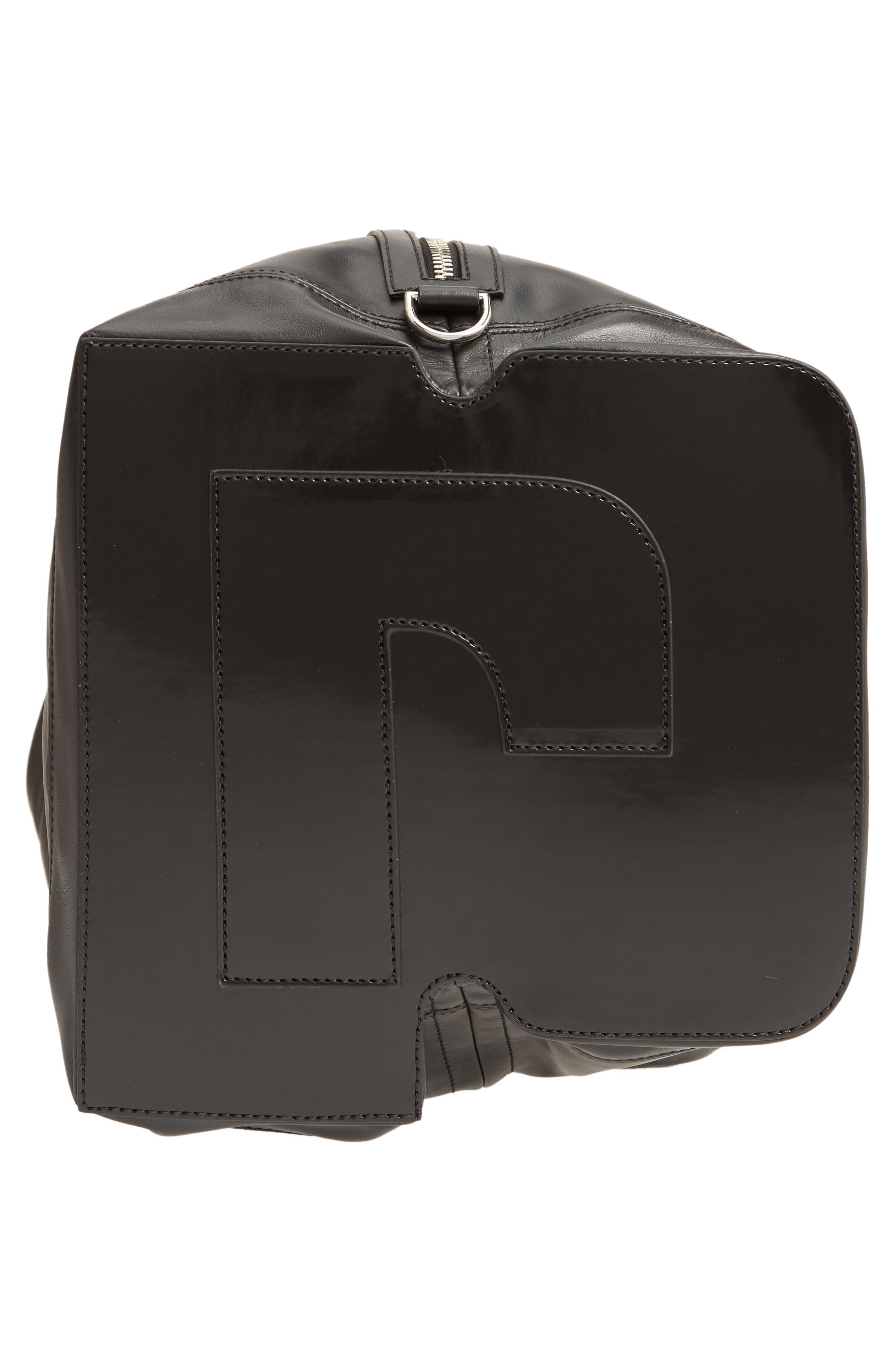 Faux Leather Convertible Hobo,                             Alternate thumbnail 7, color,                             BLACK/ BLACK