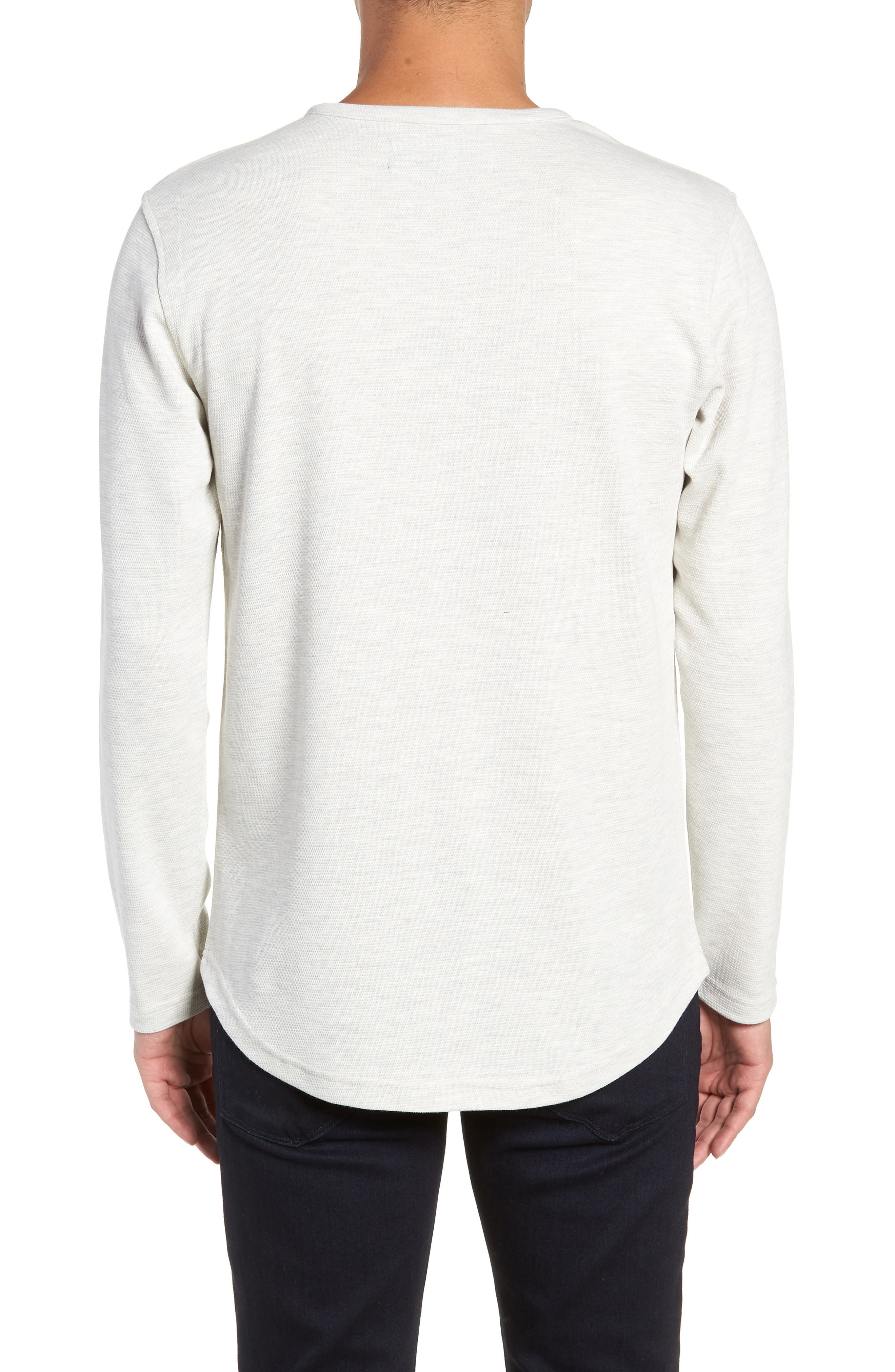 Trim Fit Waffle Knit Shirt,                             Alternate thumbnail 2, color,                             CREME