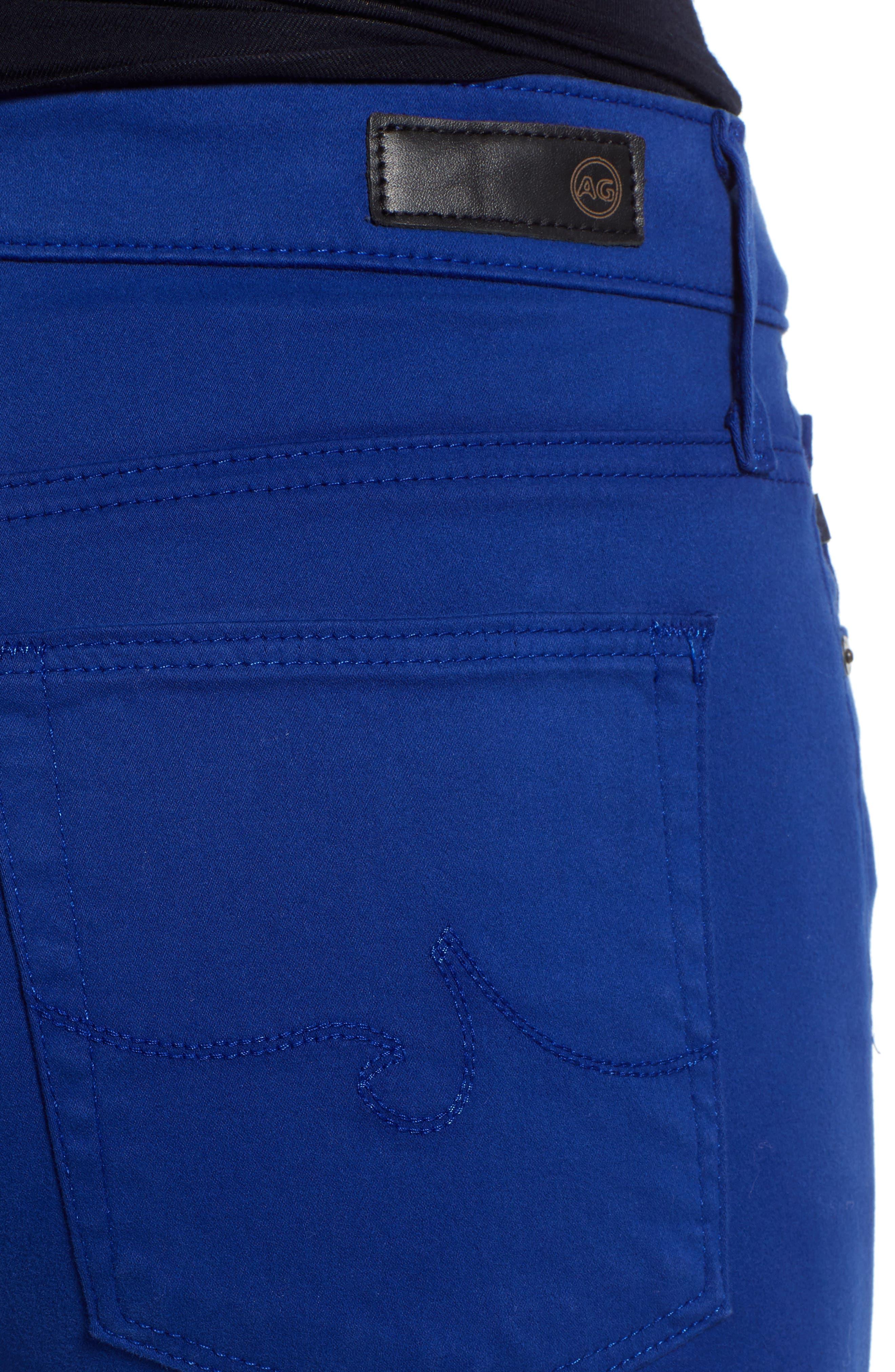Farrah High Waist Ankle Skinny Jeans,                             Alternate thumbnail 4, color,                             EGYPTIAN BLUE
