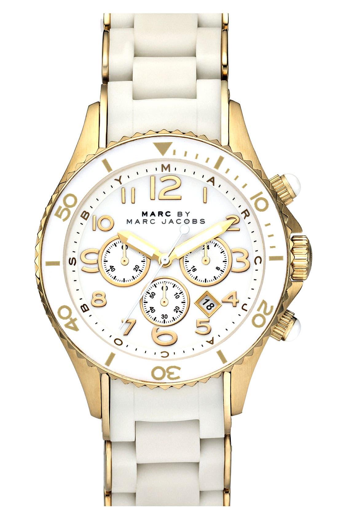 'Rock' Chronograph Silicone Bracelet Watch, 40mm,                             Main thumbnail 5, color,